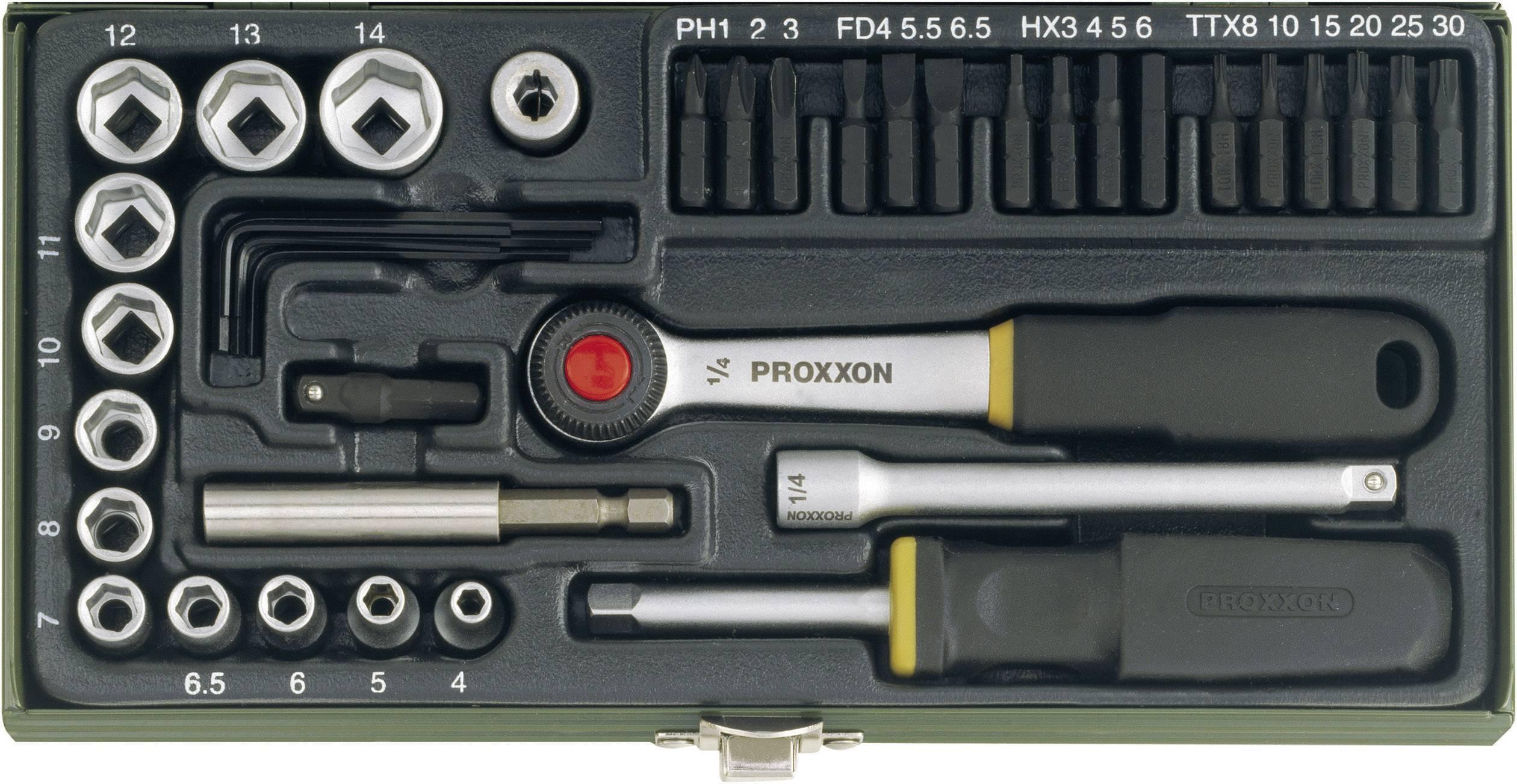 """Sada nástrčných kľúčov a bitov Proxxon Industrial 23070, 1/4"""" (6,3 mm)"""