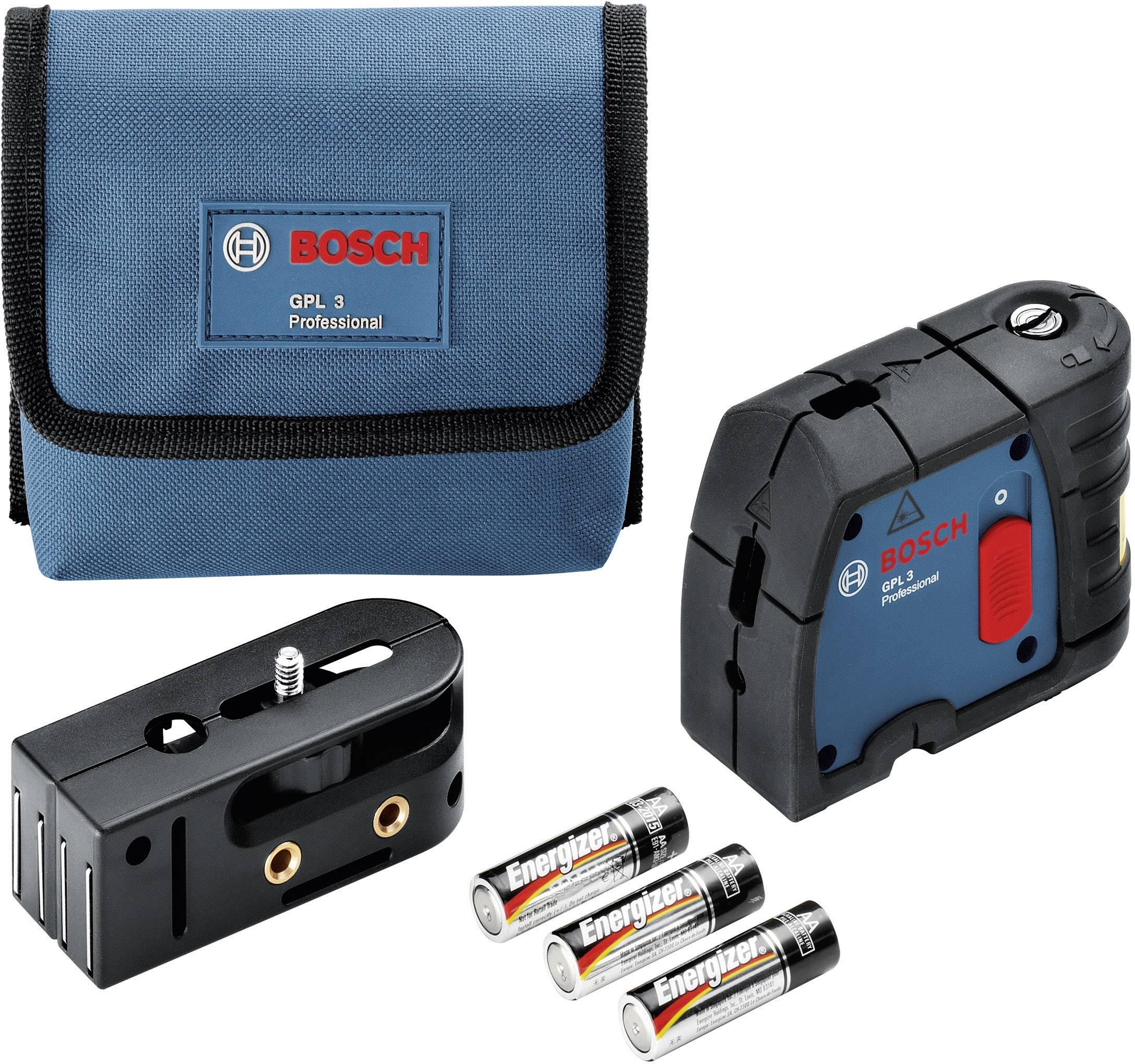 Bodový laser samonivelačná Bosch Professional GPL 3, dosah (max.): 30 m