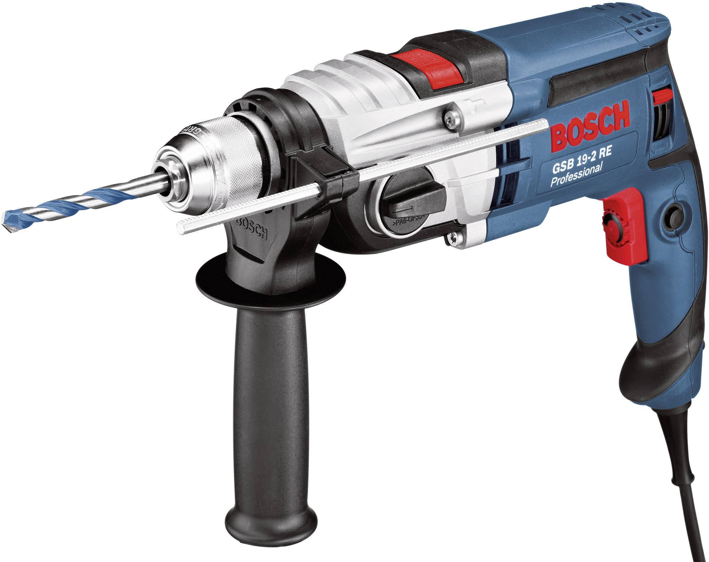 Bosch Professional GSB 19-2 RE 2cestný-příklepová vrtačka 850 W kufřík