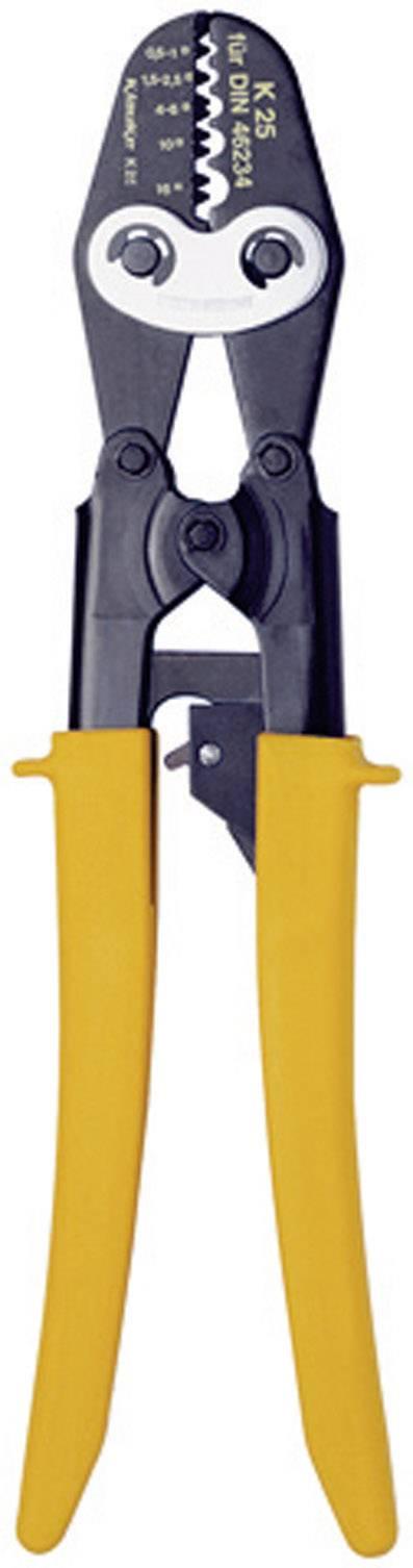 Krimpovacie kliešte s rohatkovým ústrojenstvom Klauke K 25, 0,5 - 16 mm²