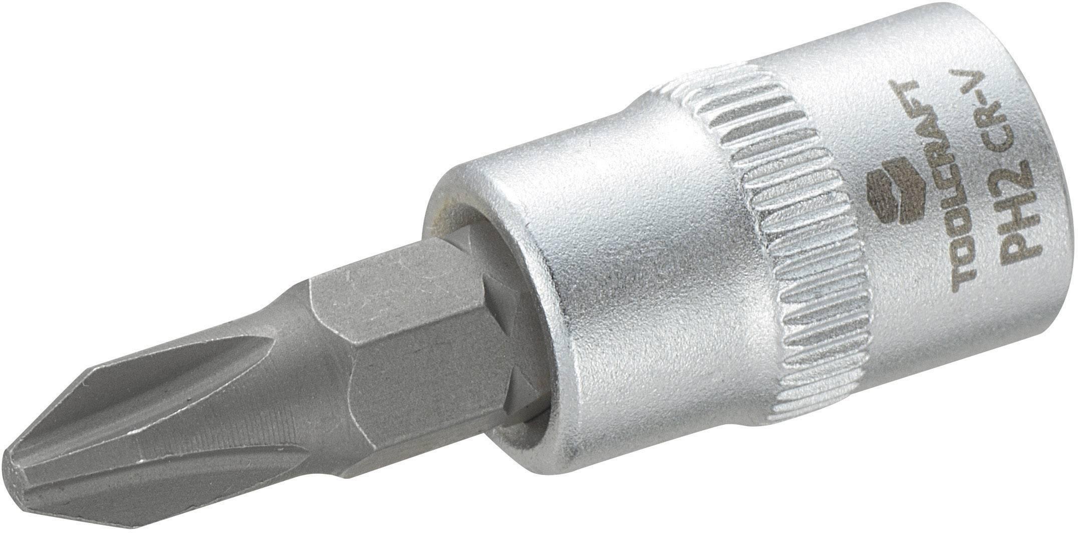 """Násada nástrčného klíče s křížovým bitem PH2, Toolcraft, 6,3 mm (1/4"""")"""