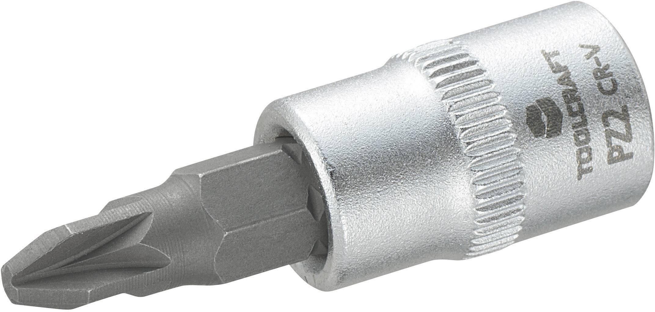 """Násada nástrčného klíče s křížovým bitem PZ2, Toolcraft, 6,3 mm (1/4"""")"""