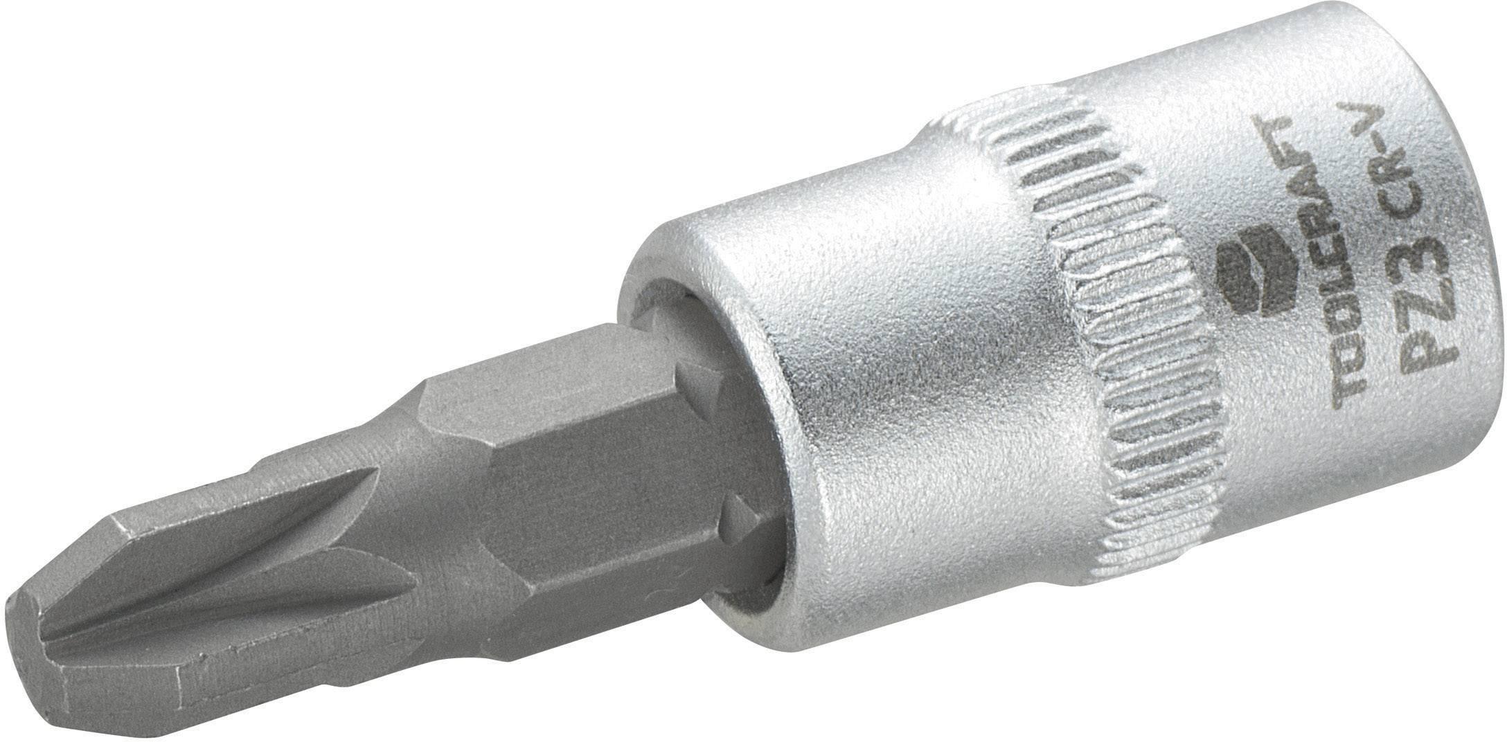 """Násada nástrčného klíče s křížovým bitem PZ3, Toolcraft, 6,3 mm (1/4"""")"""