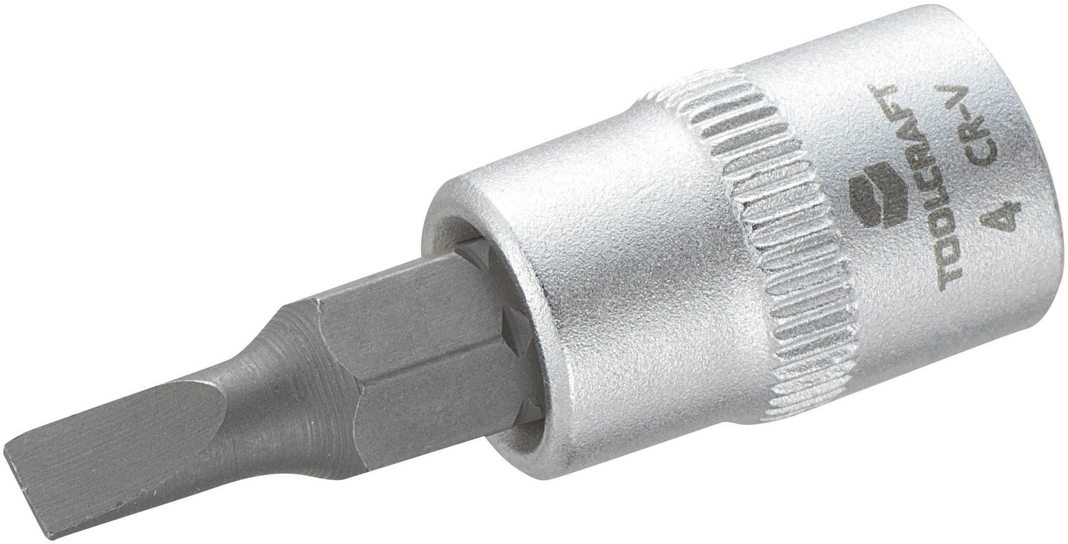 """Násada nástrčného klíče Toolcraft, 6,3 mm (1/4""""), 4mm plochý bit"""