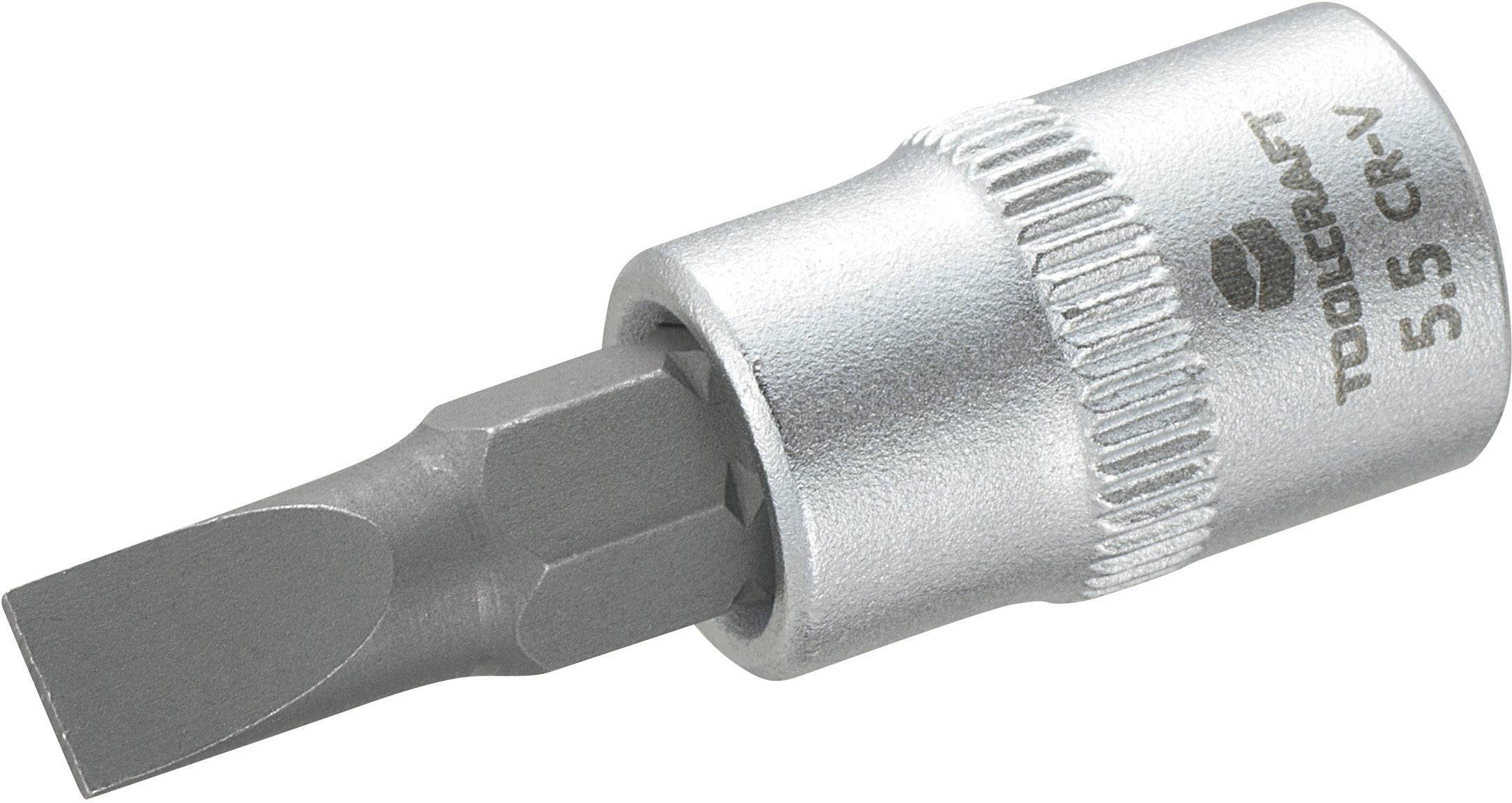 "Nástrčný kľúč, plochý TOOLCRAFT 816062, 1/4"" (6,3 mm), chróm-vanadiová oceľ"