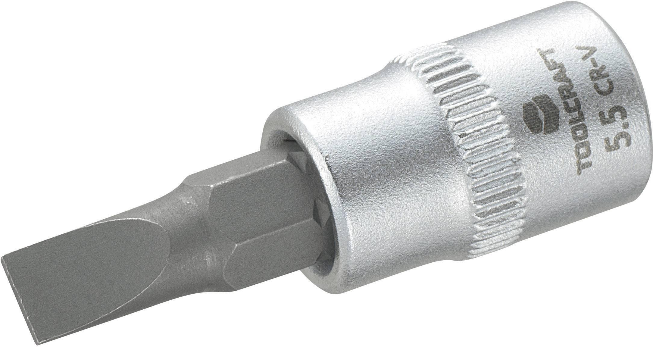 "Nástrčný kľúč TOOLCRAFT 816062, plochá, 1/4"" (6,3 mm), chróm-vanadiová oceľ"