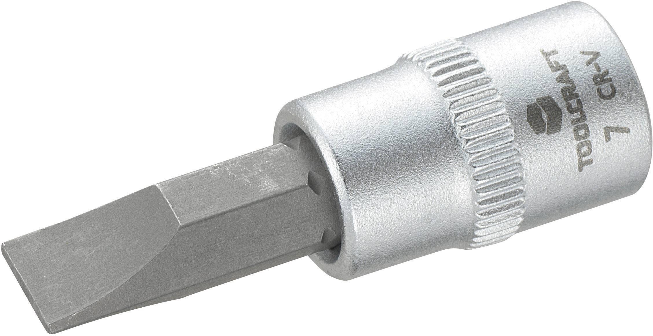 """Násada nástrčného klíče Toolcraft, 6,3 mm (1/4""""), 7mm plochý bit"""