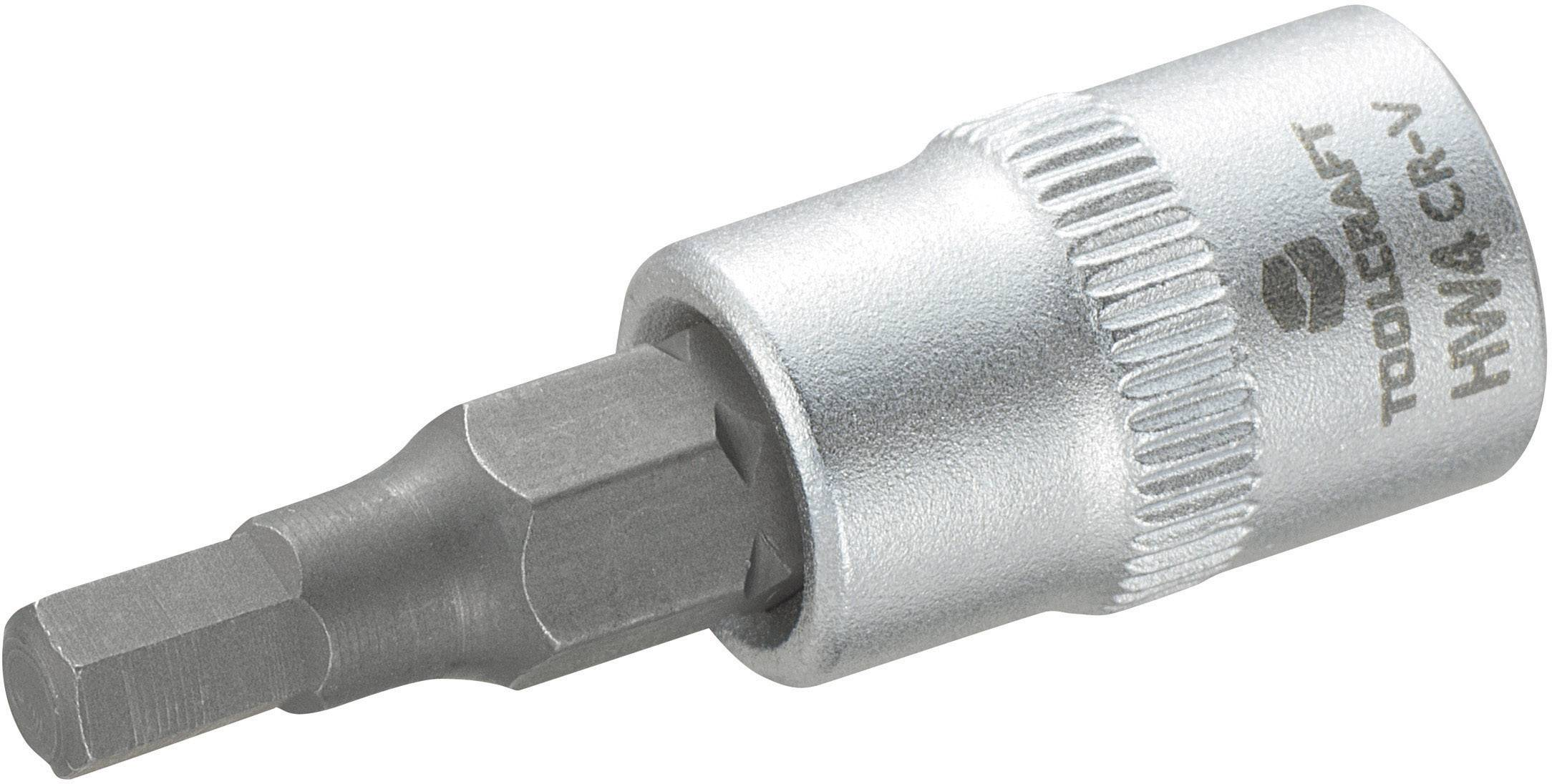 """Násada nástrčného klíče s 4mm vnitřním šestihranným bitem, Toolcraft, 6,3 mm (1/4"""")"""