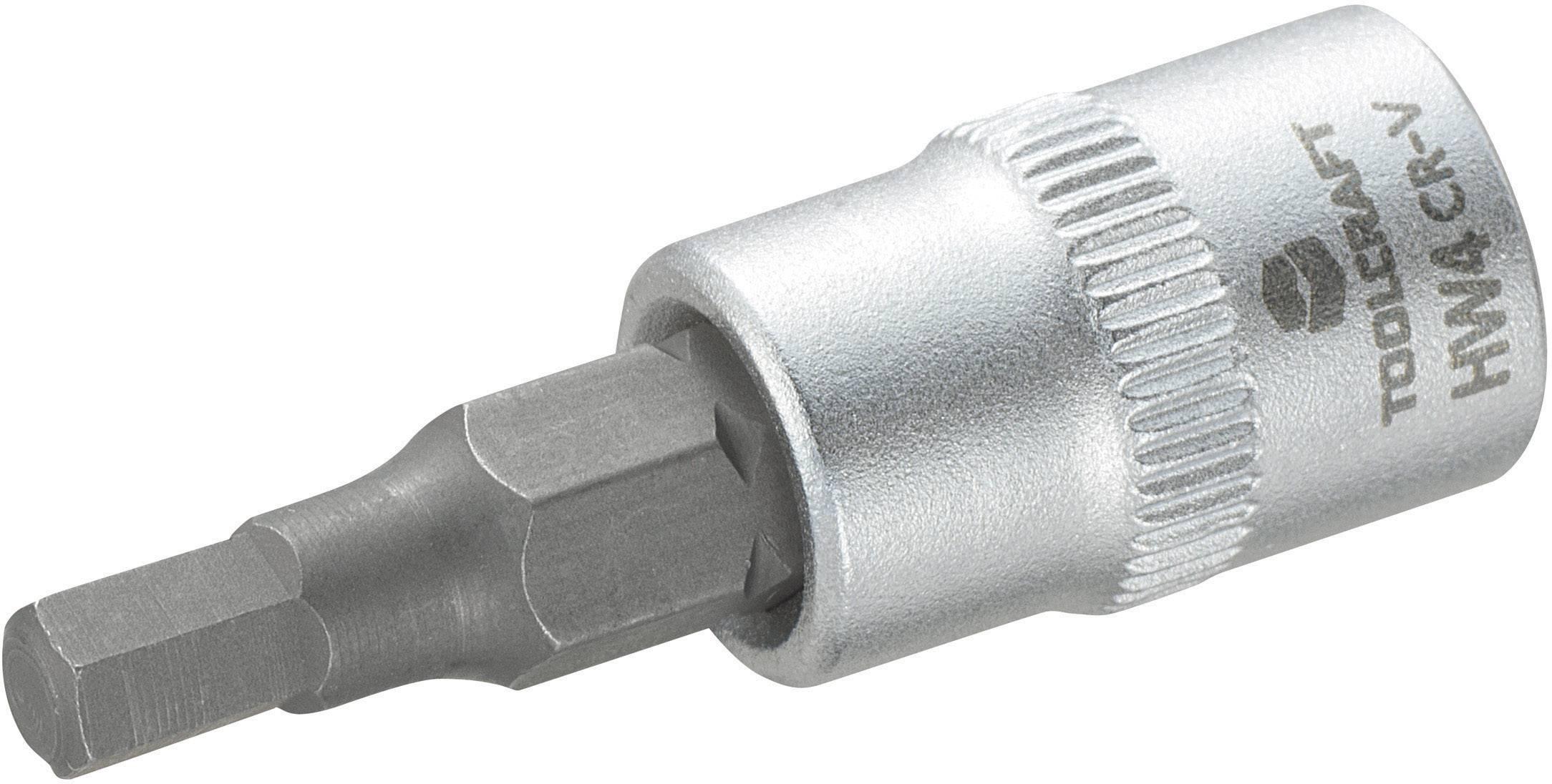 """Nástrčný kľúč TOOLCRAFT 816069, inbus, 1/4"""" (6,3 mm), 4 mm, chróm-vanadiová oceľ"""