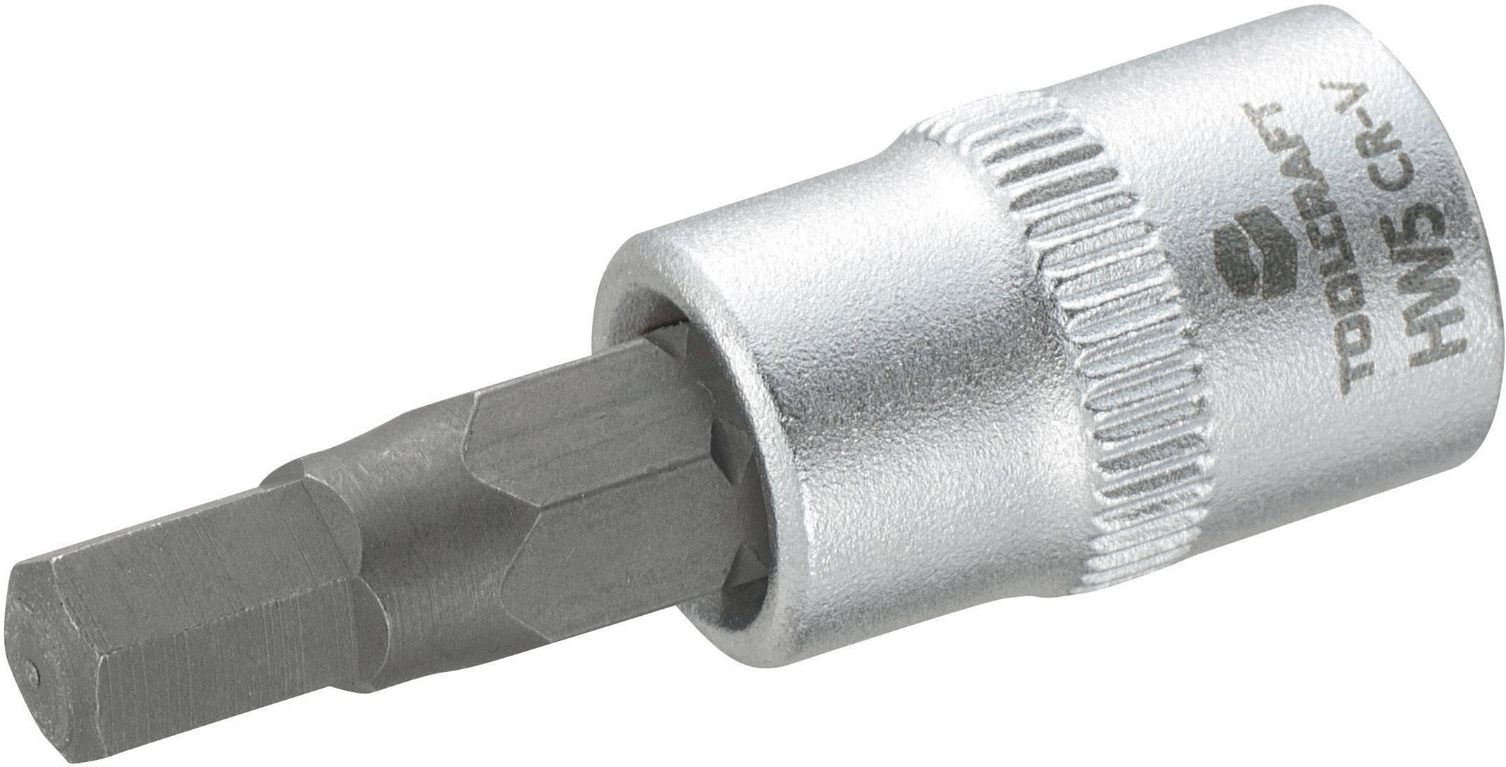"""Nástrčný kľúč TOOLCRAFT 816070, inbus, 1/4"""" (6,3 mm), 5 mm, chróm-vanadiová oceľ"""