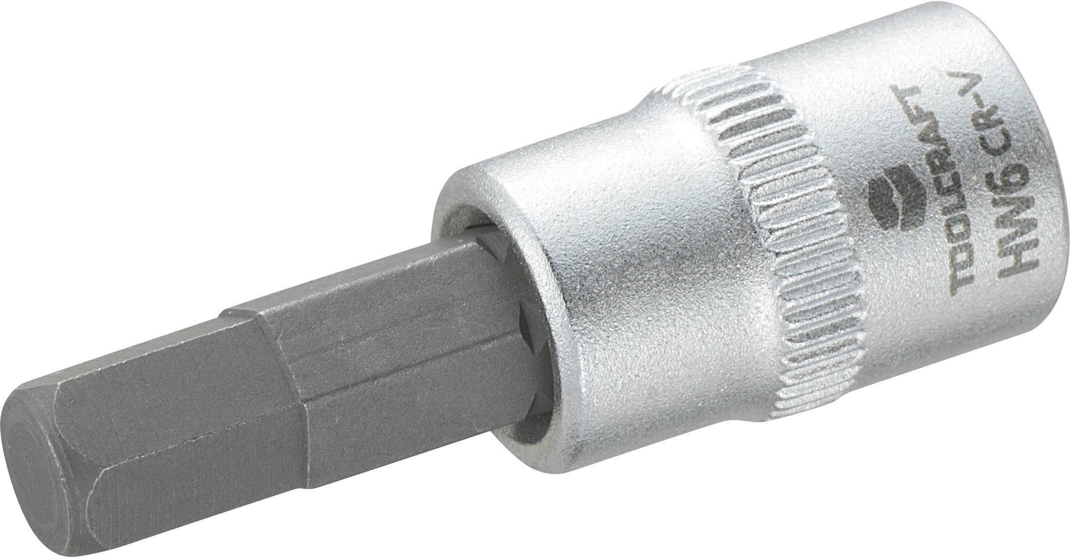 """Násada nástrčného klíče s 6mm vnitřním šestihranným bitem, Toolcraft, 6,3 mm (1/4"""")"""