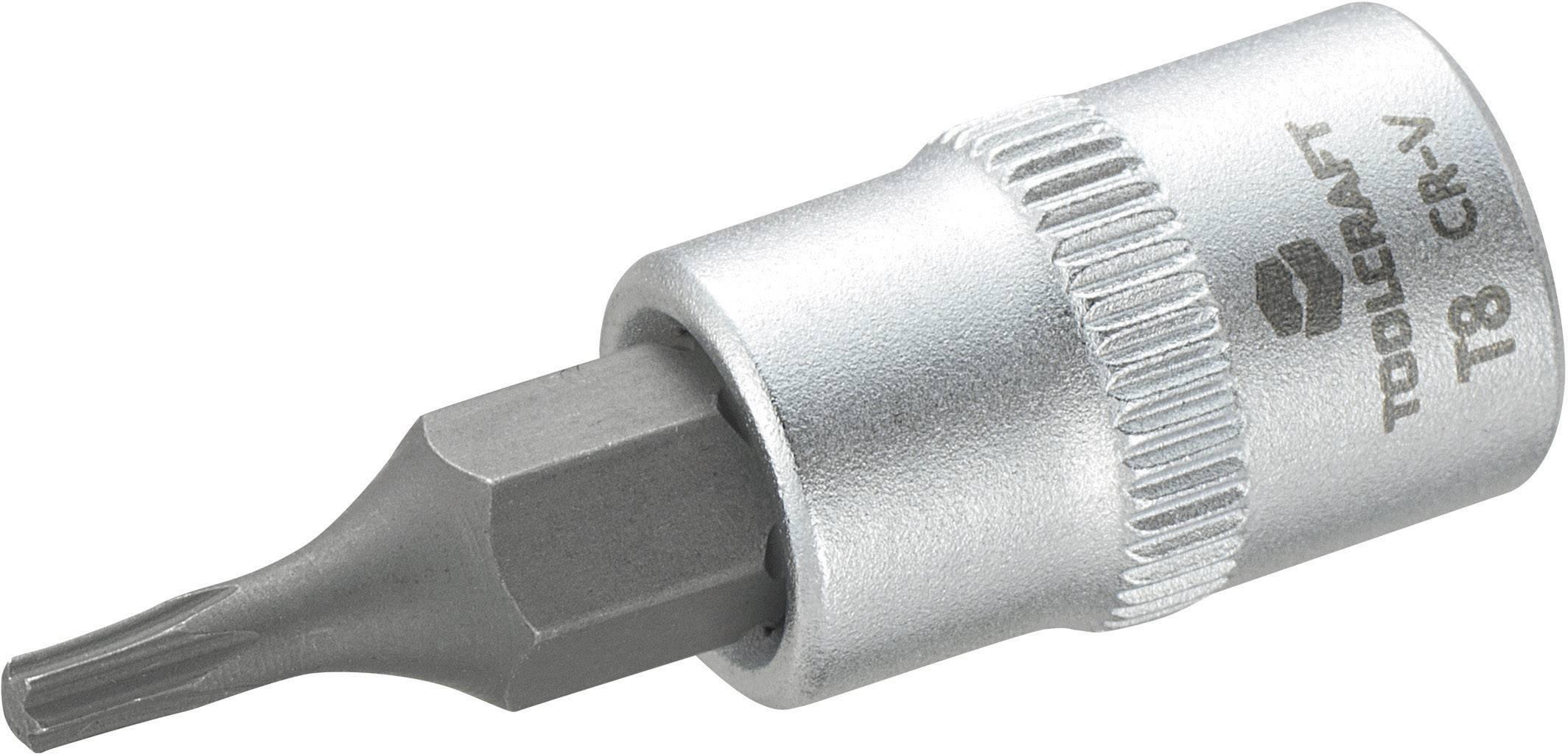 """Násada nástrčného klíče s T profilem T8, Toolcraft, 6,3 mm (1/4"""")"""