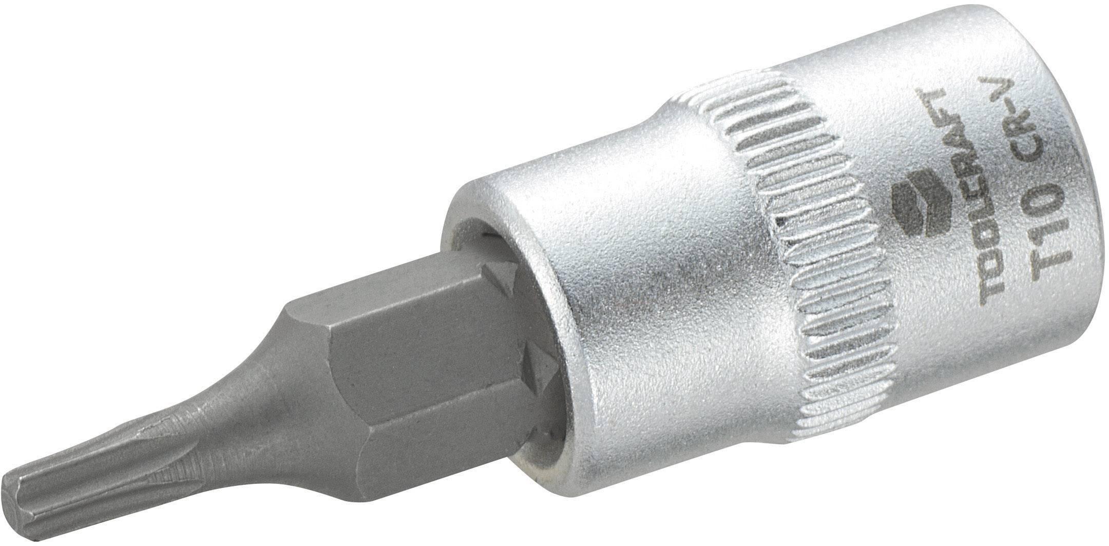 """Násada nástrčného klíče s T profilem T10, Toolcraft, 6,3 mm (1/4"""")"""
