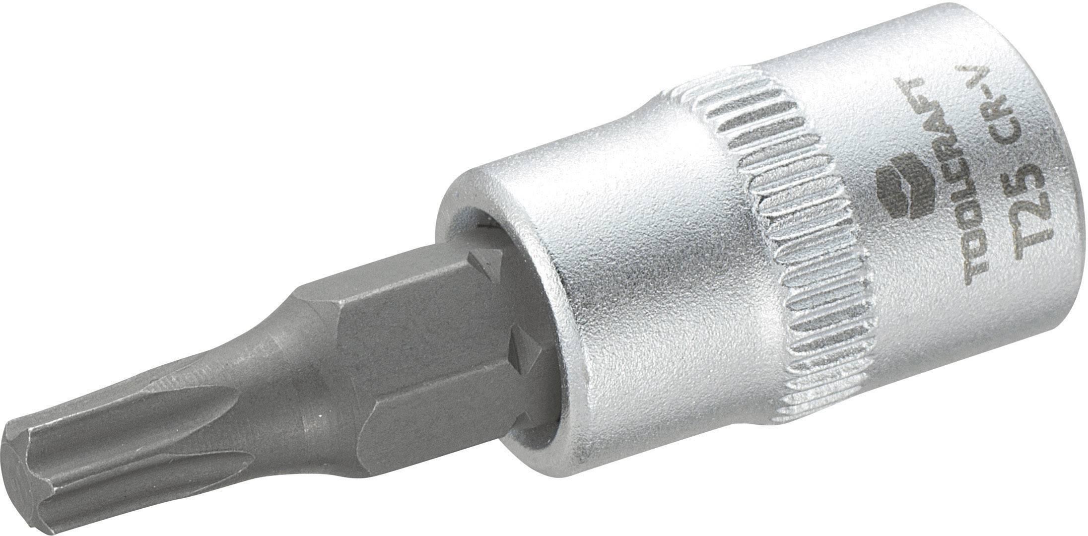 """Násada nástrčného klíče s T profilem T27, Toolcraft, 6,3 mm (1/4"""")"""