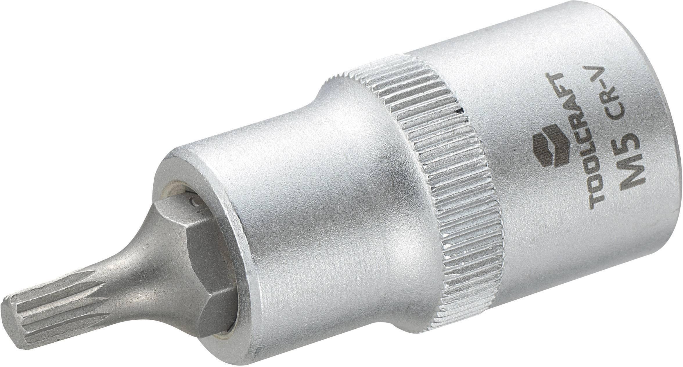 """Násada nástrčného klíče s vícezubým bitem M5, Toolcraft, 12,5 mm (1/2"""")"""