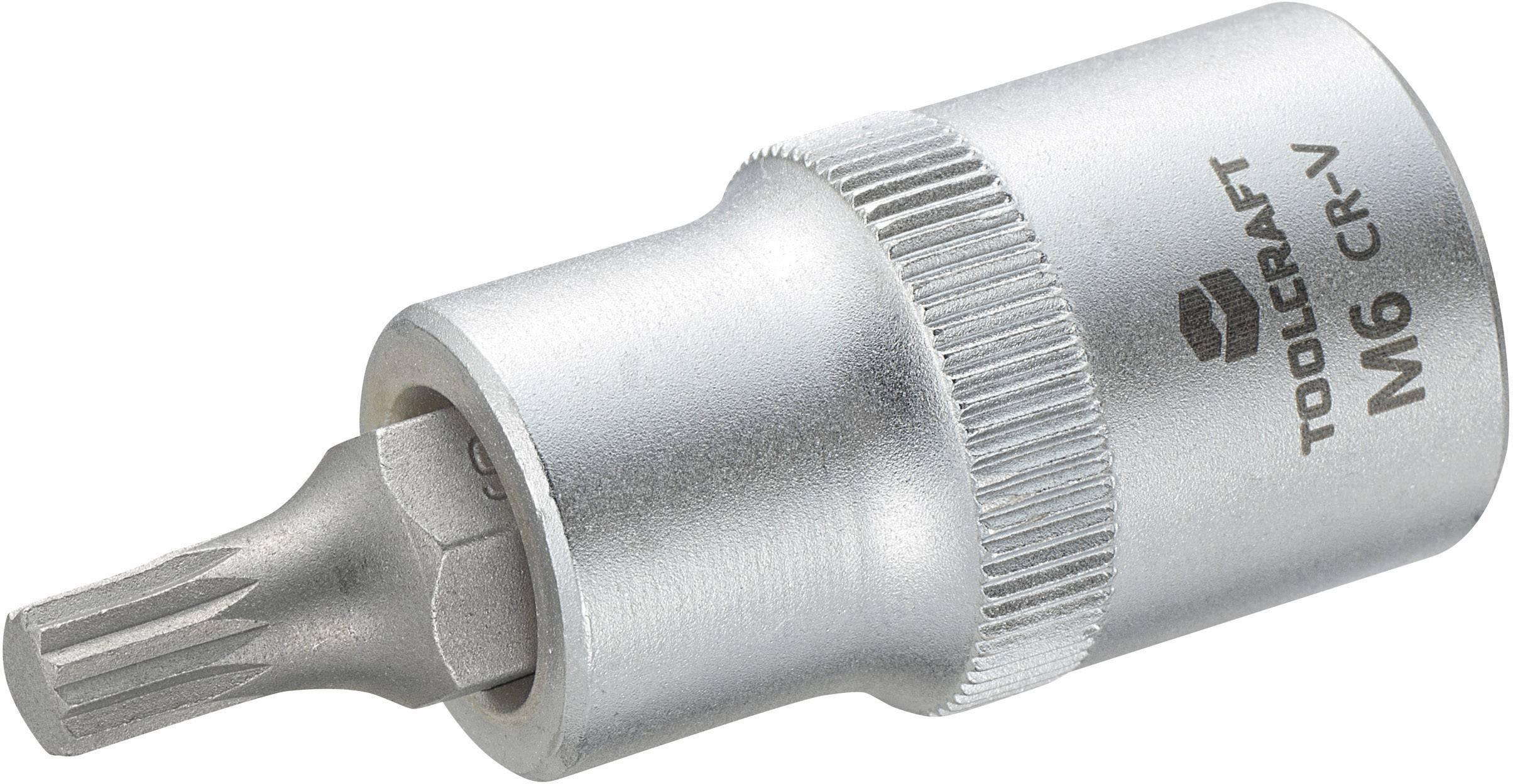 """Násada nástrčného klíče s vícezubým bitem M6, Toolcraft, 12,5 mm (1/2"""")"""