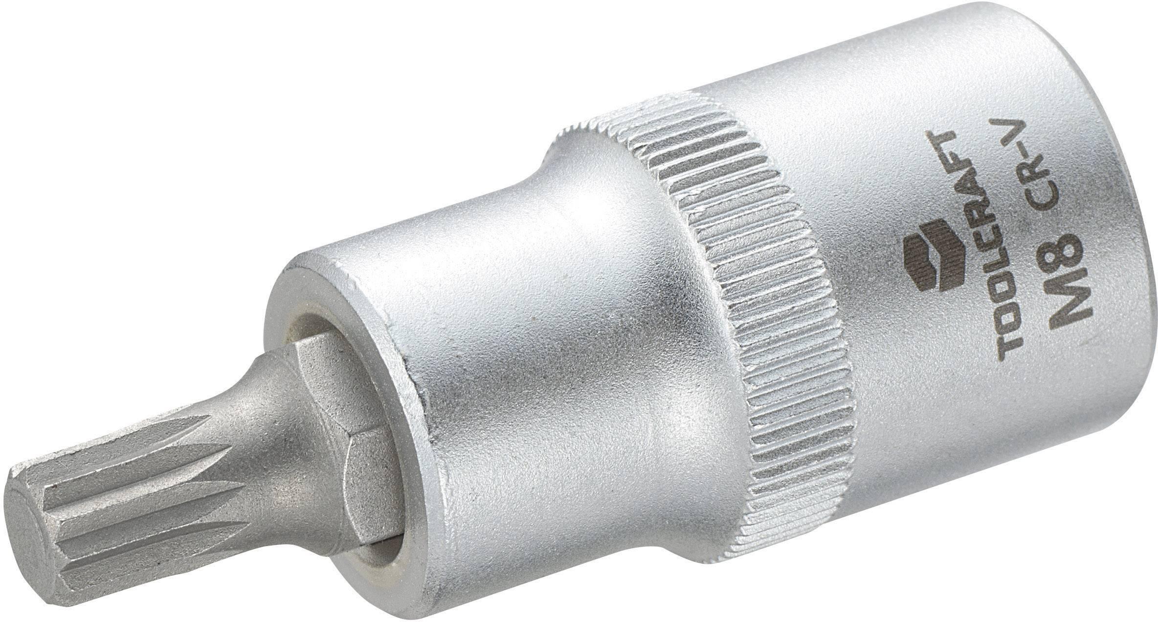 """Násada nástrčného klíče s vícezubým bitem M8, Toolcraft, 12,5 mm (1/2"""")"""