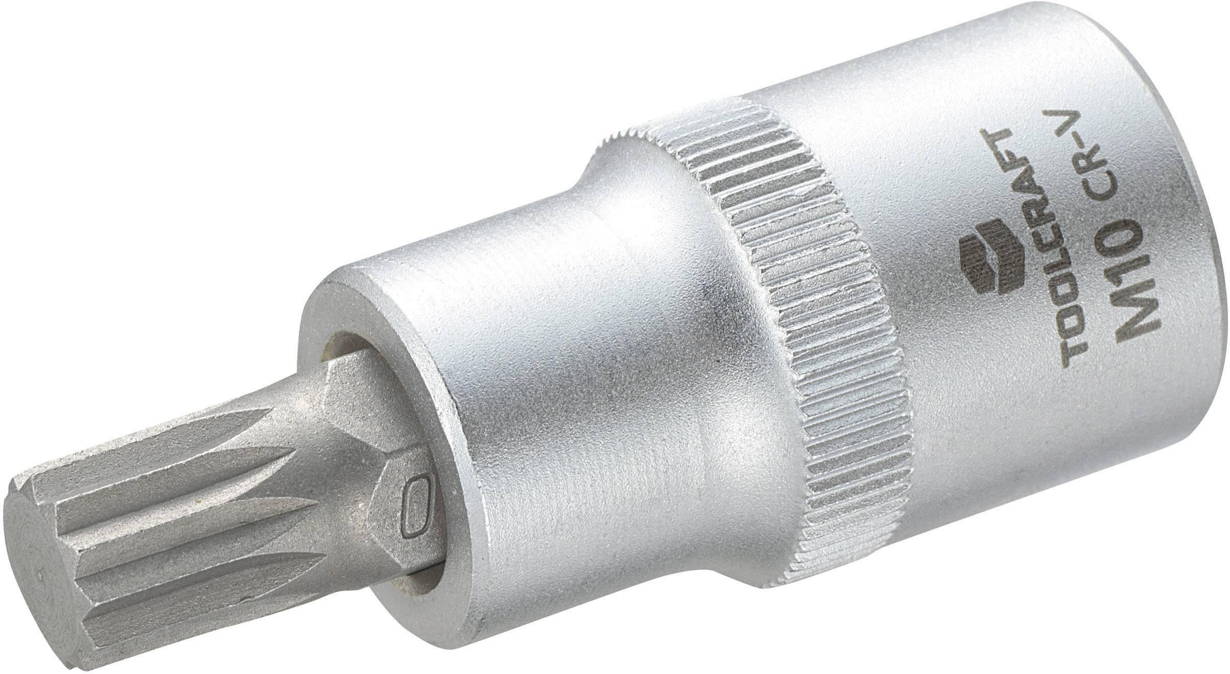 """Násada nástrčného klíče s vícezubým bitem M10, Toolcraft, 12,5 mm (1/2"""")"""