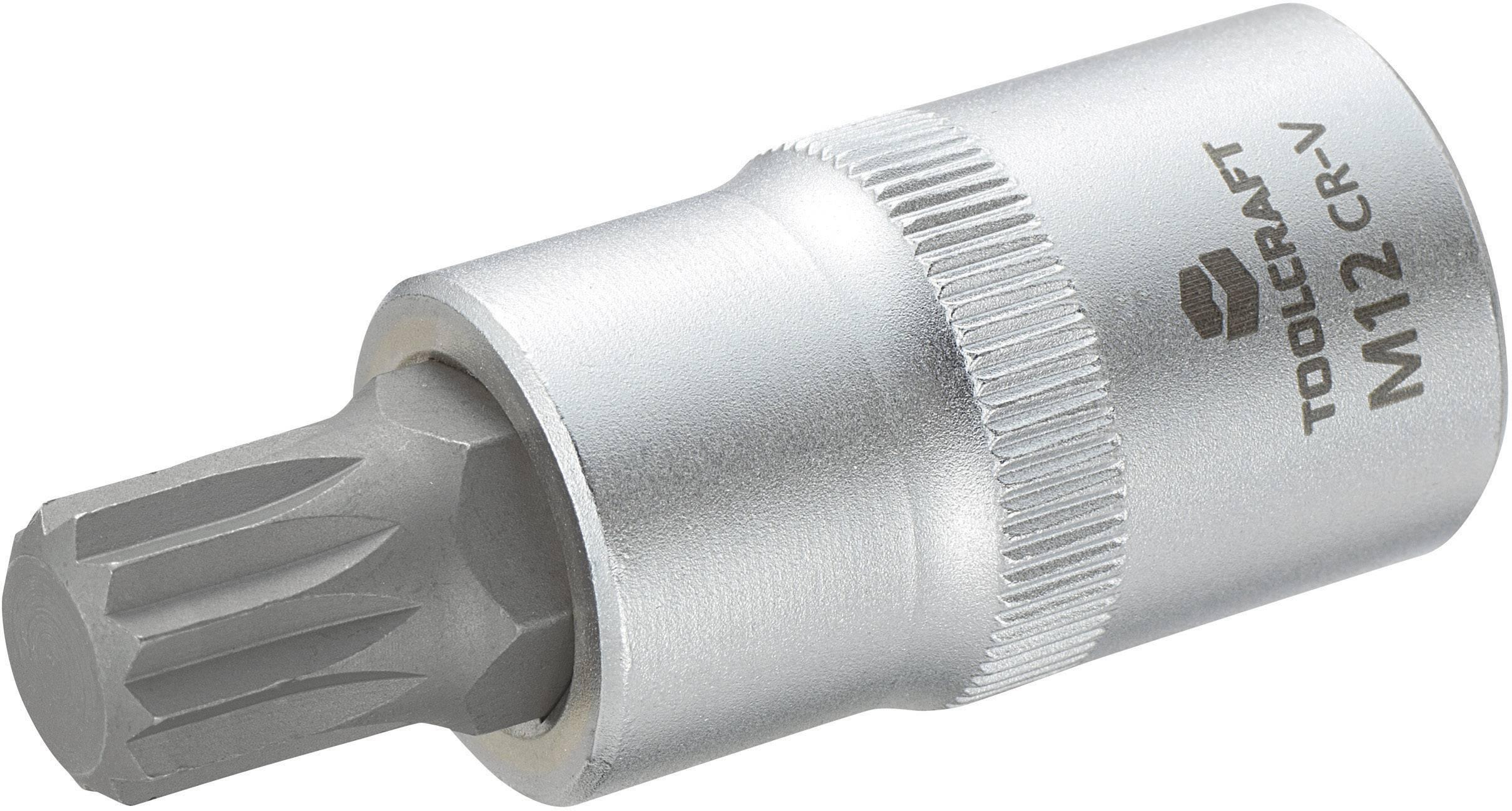 """Násada nástrčného klíče s vícezubým bitem M12, Toolcraft, 12,5 mm (1/2"""")"""