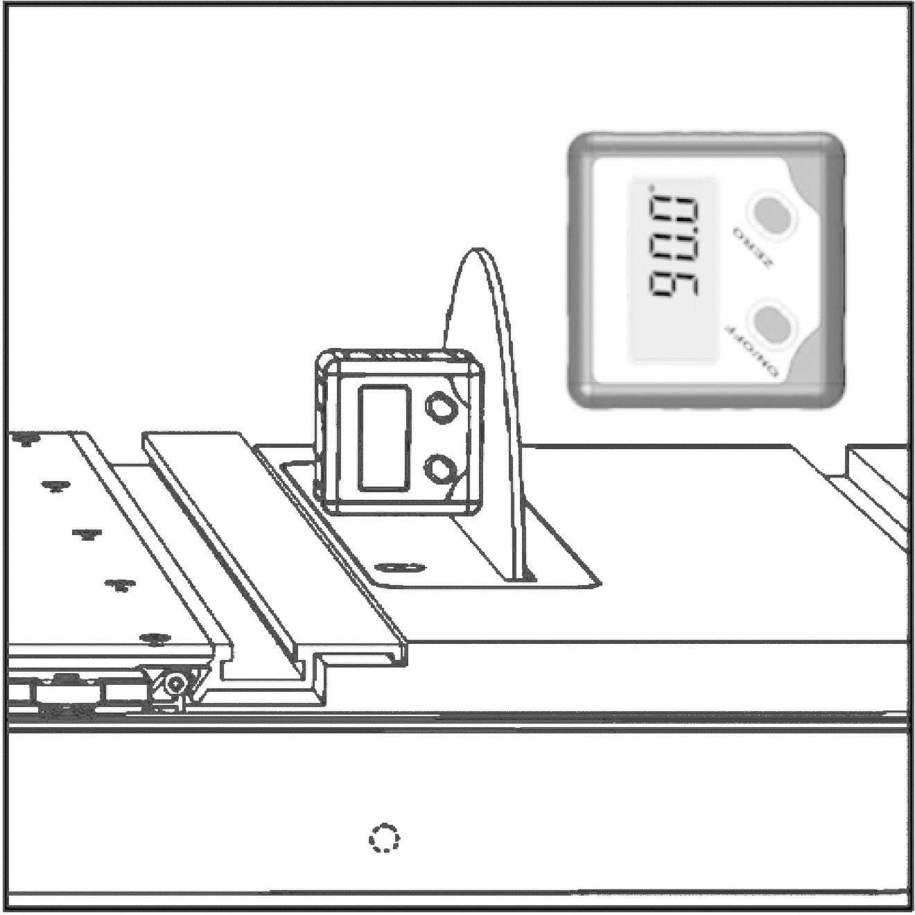 Elektronický uhlomer Toolcraft, 5 x 5 cm