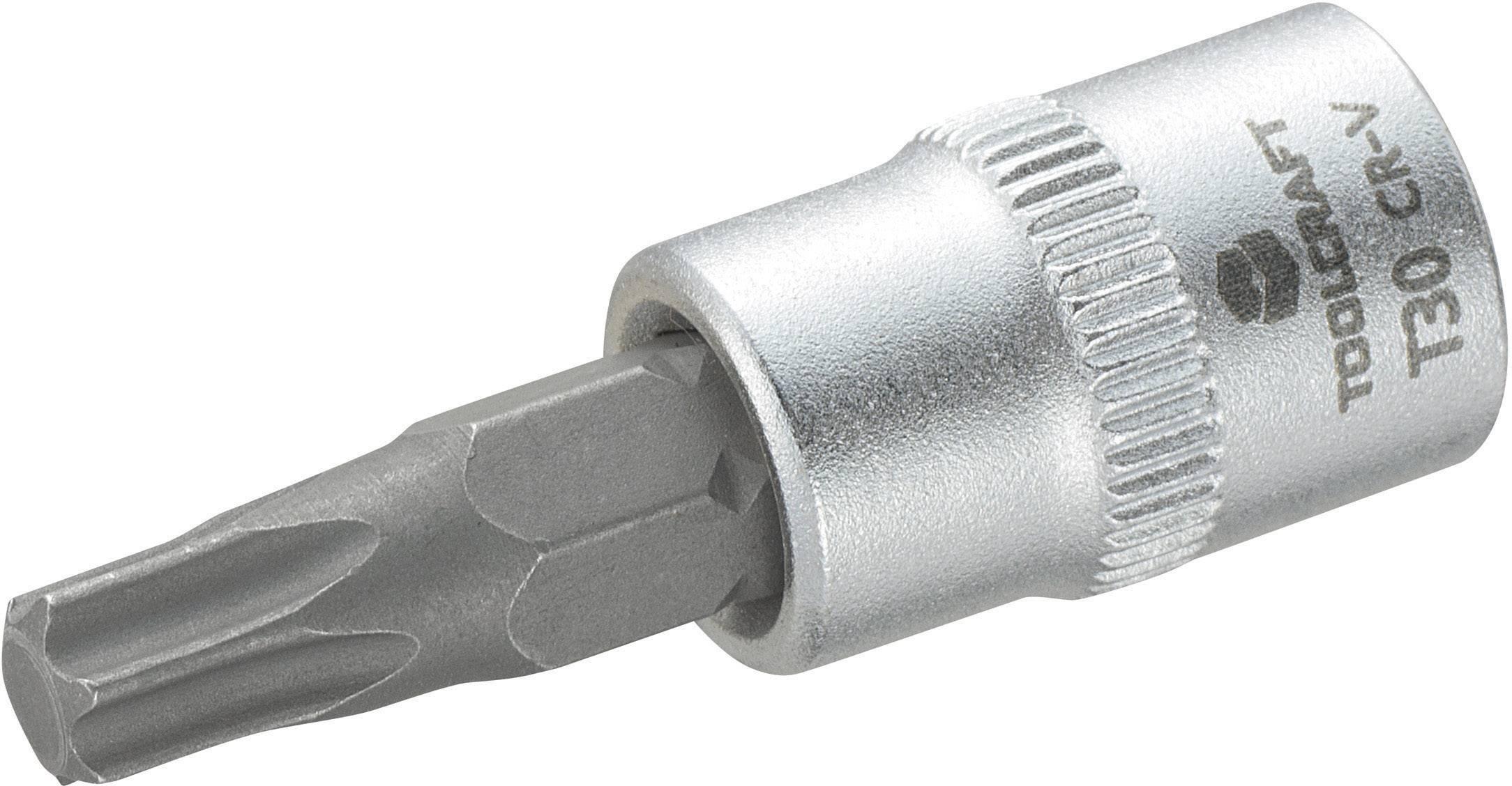 """Násada nástrčného klíče s T profilem T30, Toolcraft, 6,3 mm (1/4"""")"""