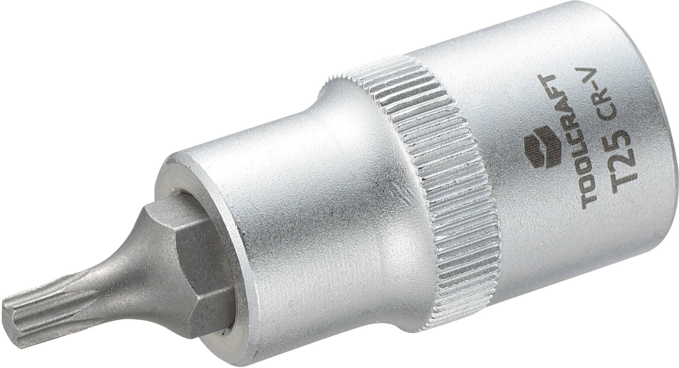 """Násada nástrčného klíče s T profilem T25, Toolcraft, 12,5 mm (1/2""""), T25"""