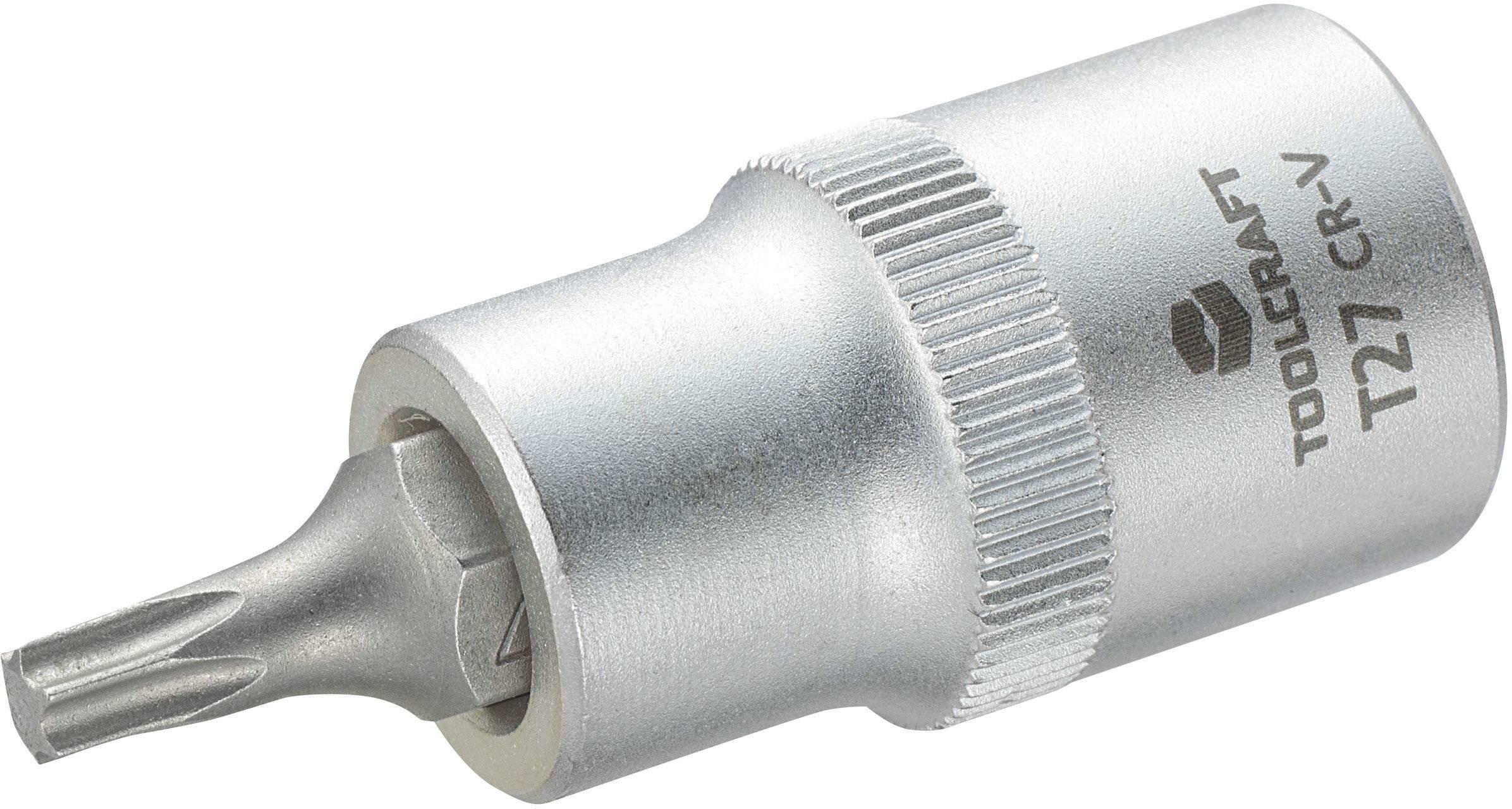 """Násada nástrčného klíče s T profilem T25, Toolcraft, 12,5 mm (1/2""""), T27"""