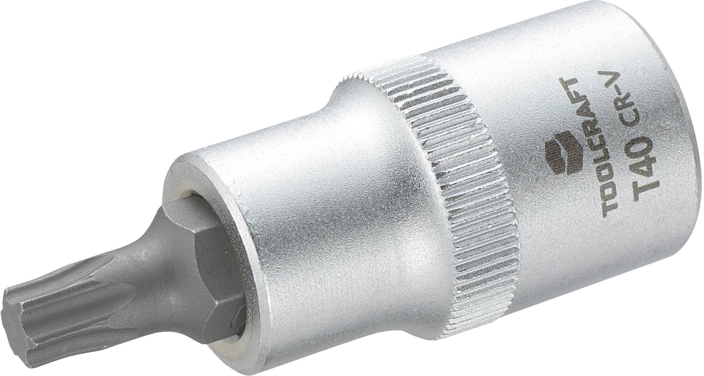 """Násada nástrčného klíče s T profilem T25, Toolcraft, 12,5 mm (1/2""""), T40"""