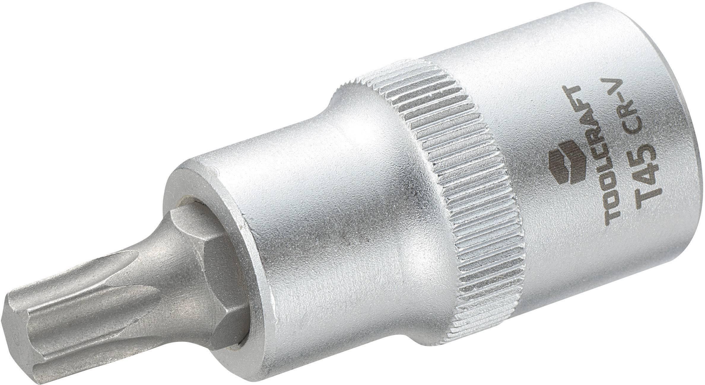 """Násada nástrčného klíče s T profilem T25, Toolcraft, 12,5 mm (1/2""""), T45"""