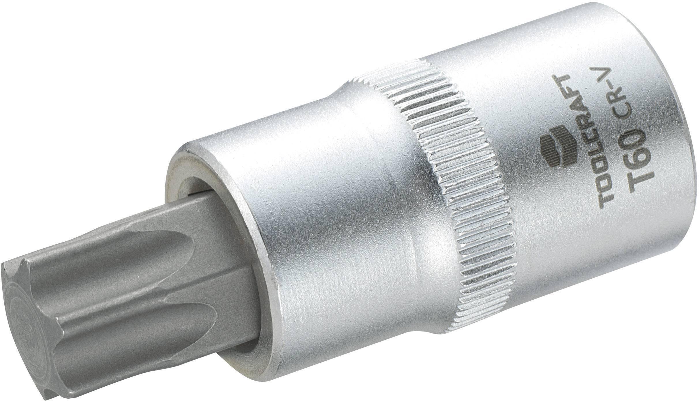 """Násada nástrčného klíče s T profilem T25, Toolcraft, 12,5 mm (1/2""""), T60"""
