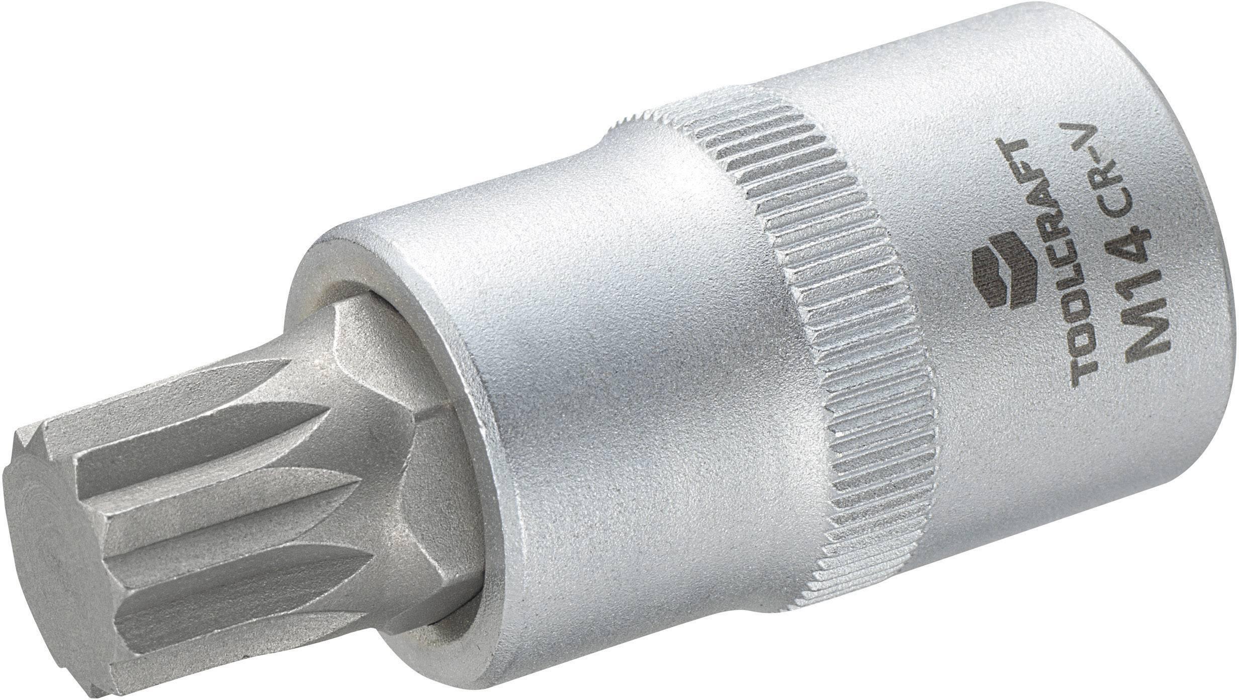 """Násada nástrčného klíče s vícezubým bitem M14, Toolcraft, 12,5 mm (1/2"""")"""
