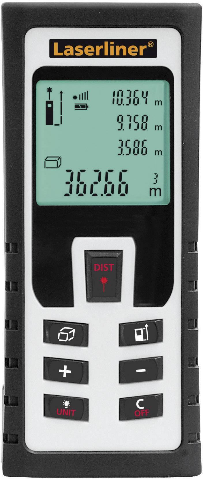Laserový měřič vzdálenosti Laserliner DistanceMaster 60 080.946A, max. rozsah 60 m, kalibrace dle ISO