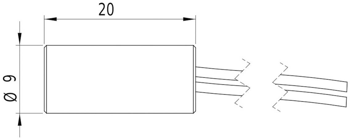 Laserový modul Laserfuchs 70105094, úzka, 5 mW