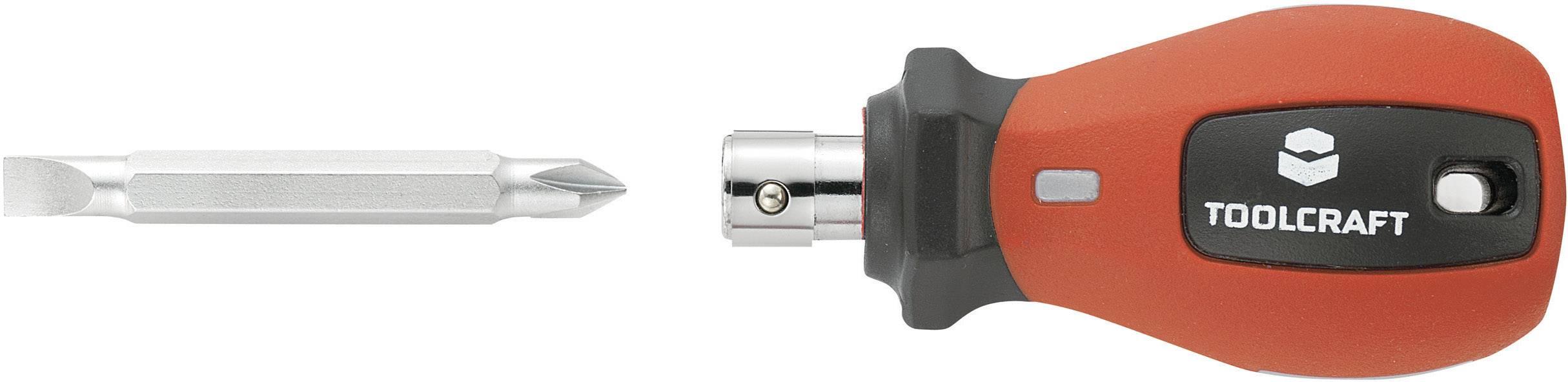 Šroubovák s vyměnitelným bitem plochý/křížový TOOLCRAFT, 100 mm