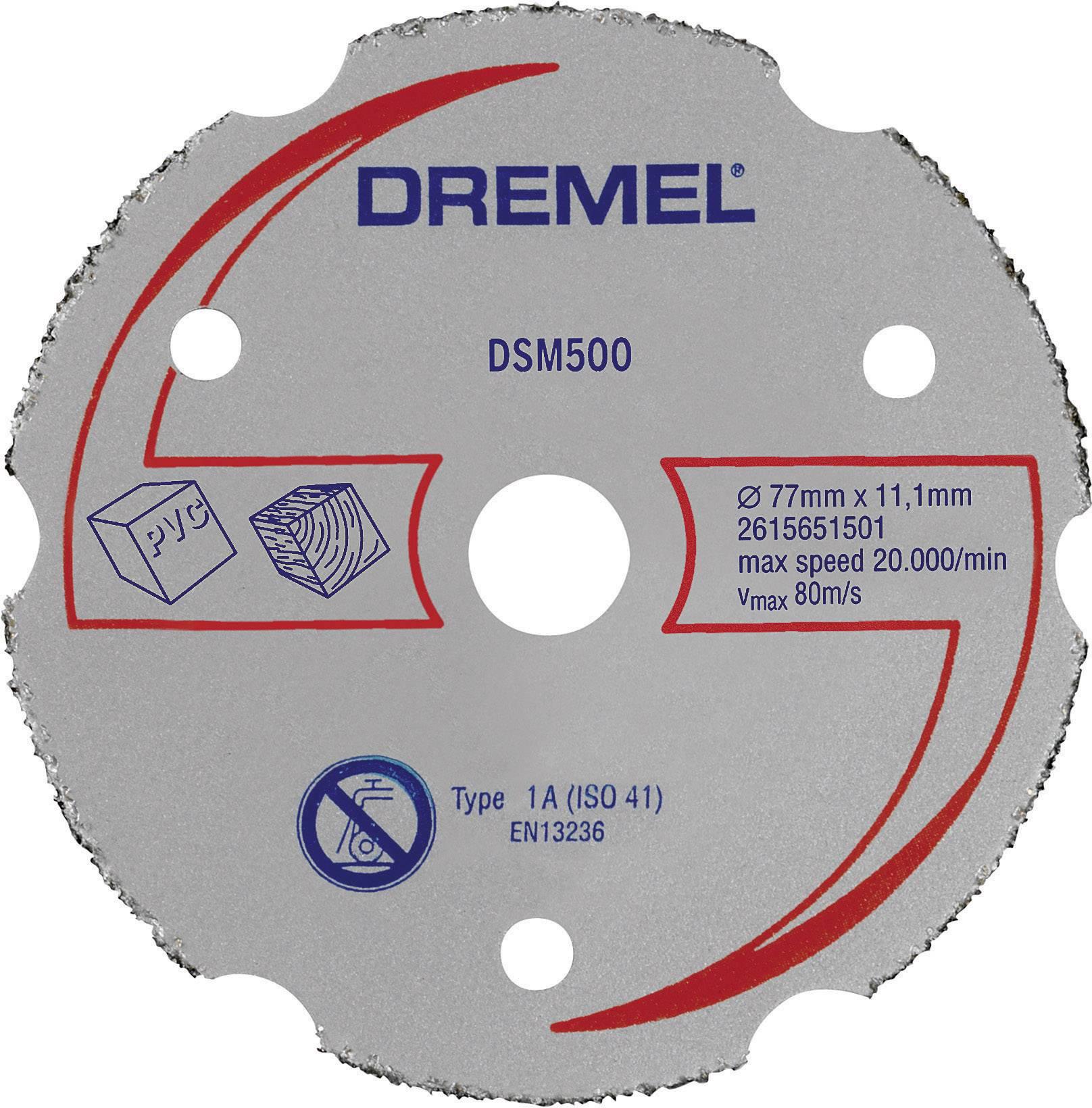 Víceúčelový karbidový kotouč Dremel 2615S500JA, DSM 500 (77 mm)