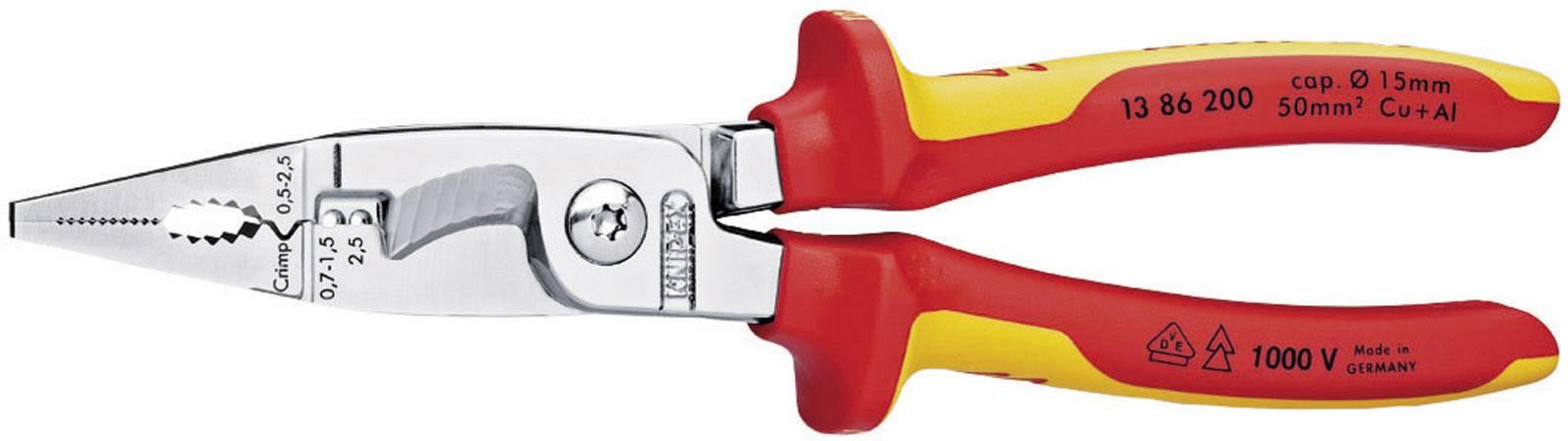 Multifunkčné kliešte Knipex 13 86 200 13 86 200, prierez AWG 0 (max)