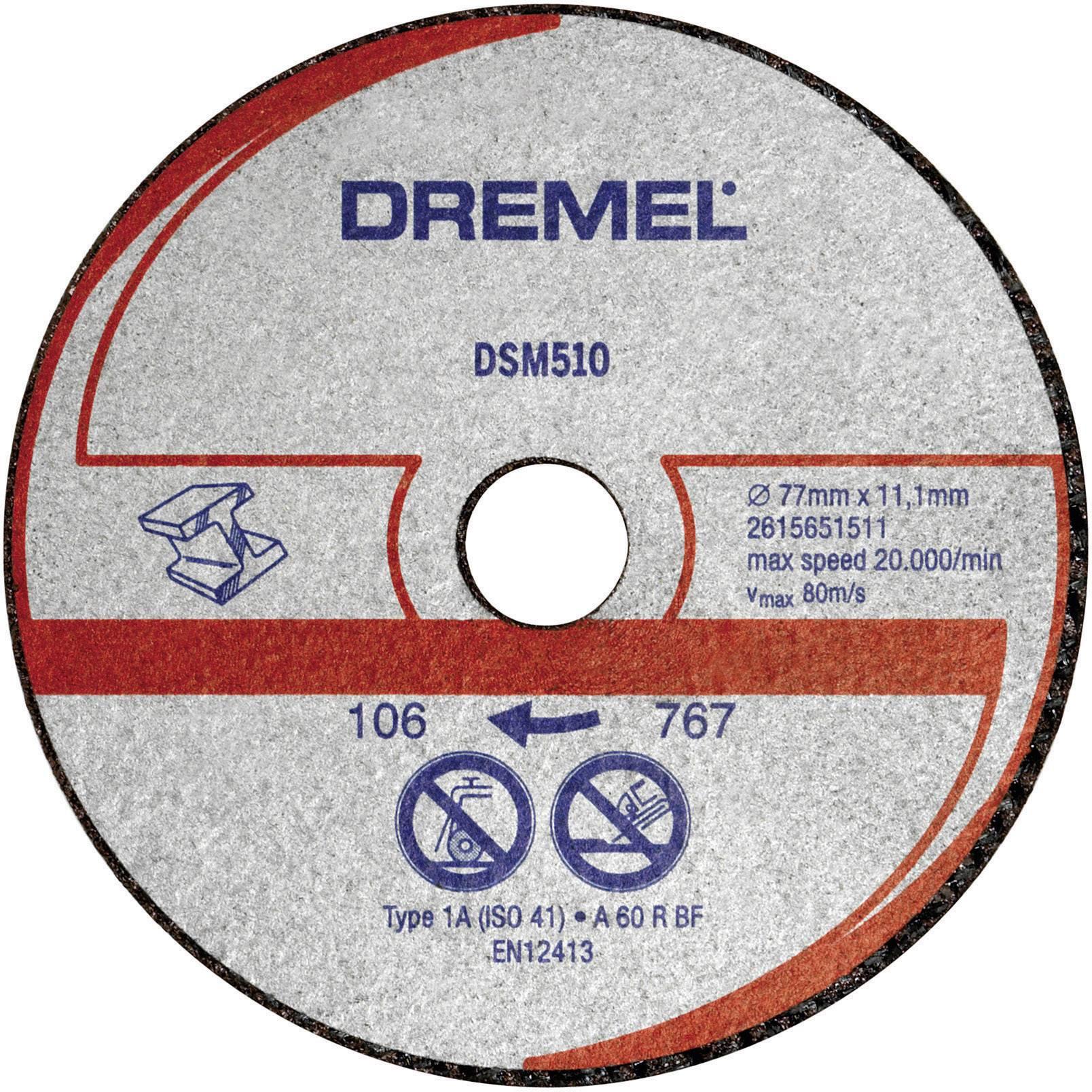 Řezný kotouč rovný Dremel 2615S510JA, DSM 510 Průměr 77 mm 3 ks