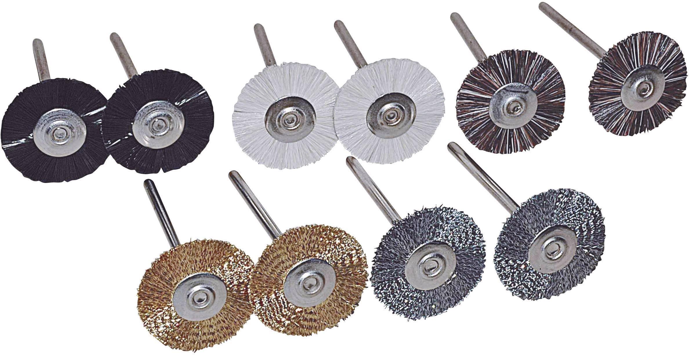 10-dílná sada kulatých kartáčů TOOLCRAFT 816523, Ø dříku 2.35 mm