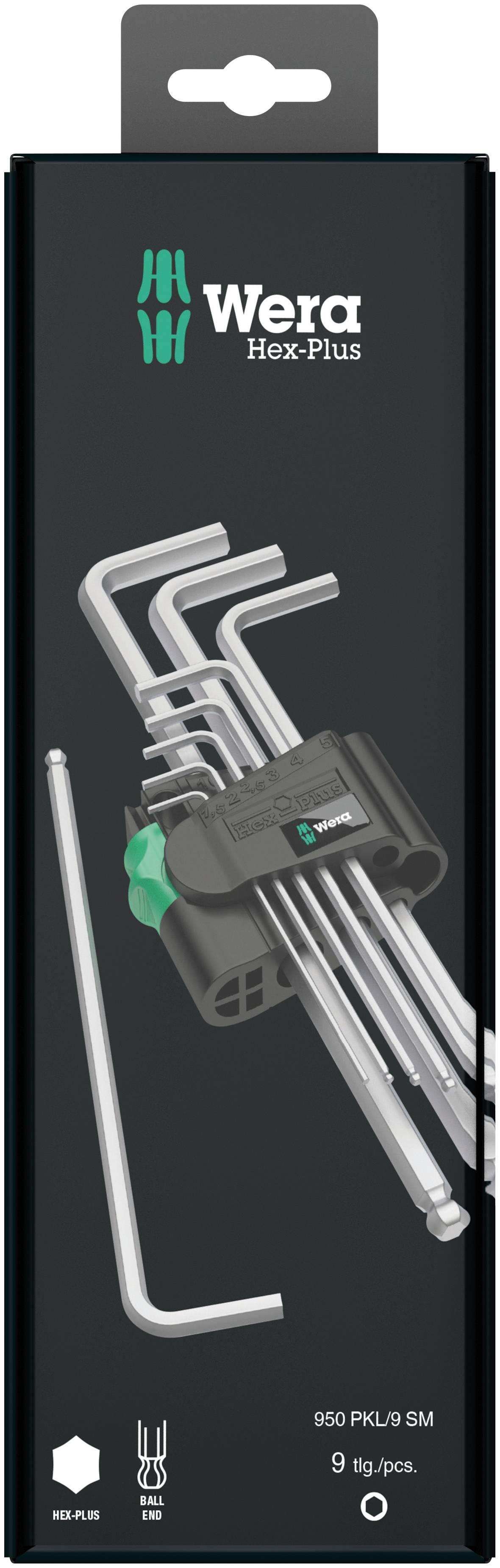 Sada zahnutých kľúčov Wera 950 PKL/9 SM N SB 05073391001, 9-dielna