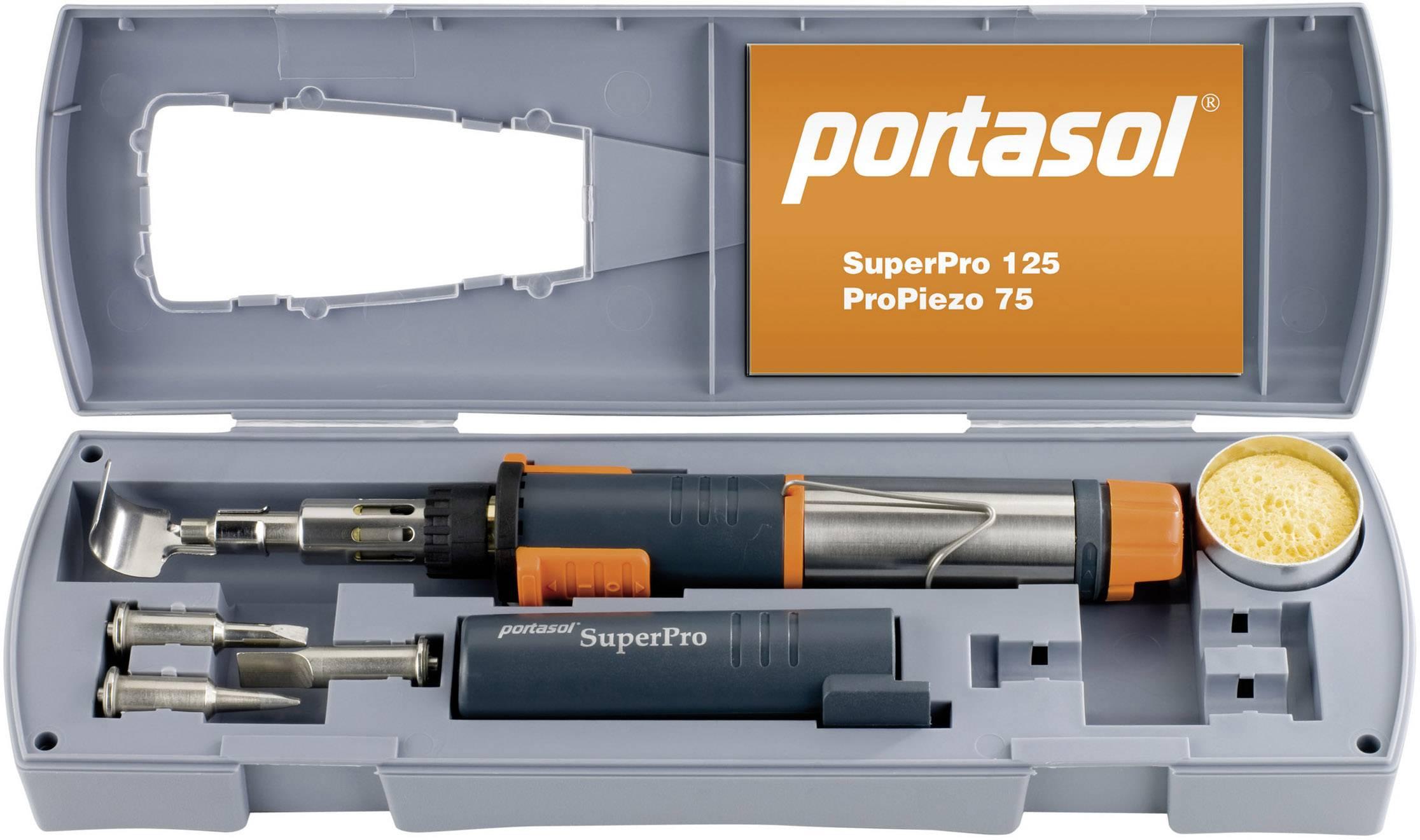 Sada plynovej spájkovačky Portasol SuperPro Set, 625 °C, 90 min + piezozapaľovač