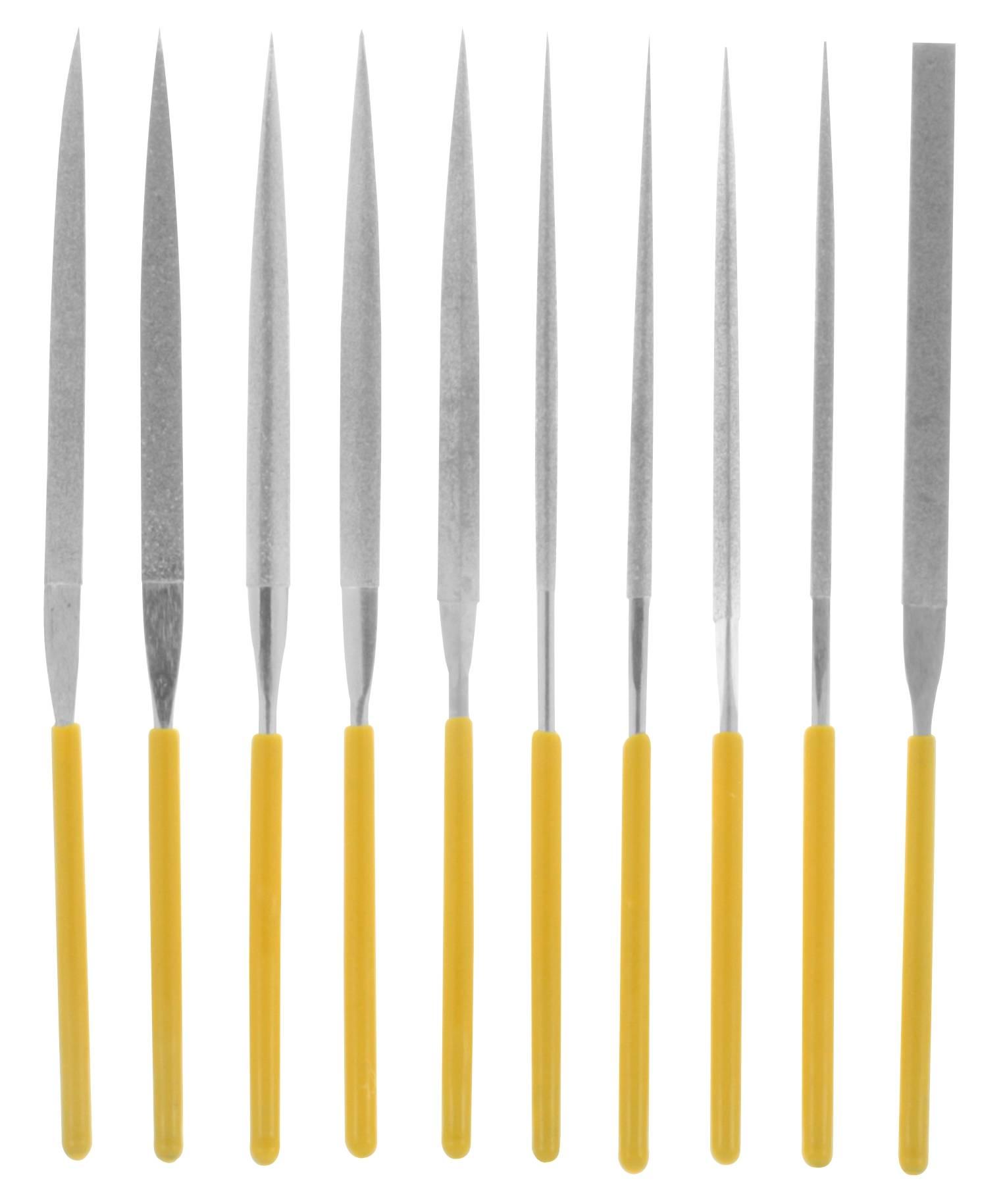 Sada diamantových jehlových pilníků 10 ks Donau Elektronik M53 140