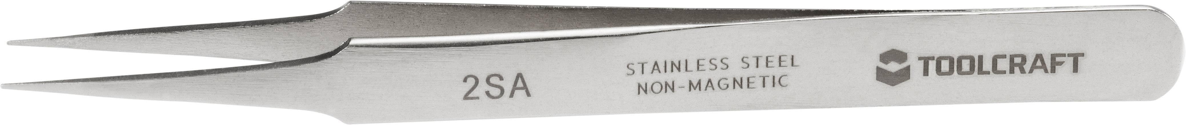 Nerezová pinzeta s rovnými špičatými konci Toolcraft 2SA, 120 mm