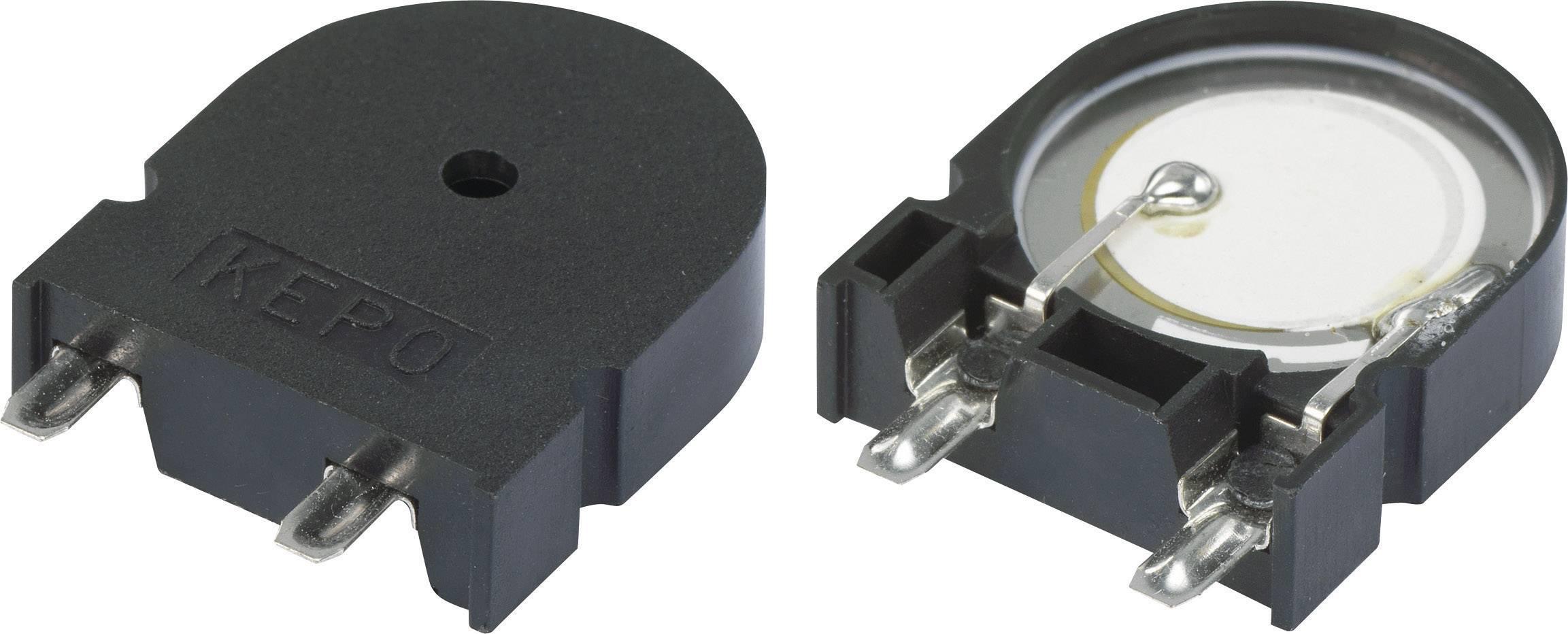 Piezo měnič 75 dB KPT-G2312A-K9209, černá