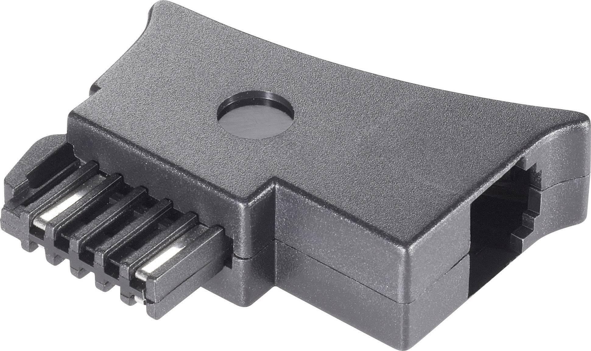 Telefonní adaptér [1x telefonní zástrčka rakouská (TST) - 1x RJ11 zásuvka 6p4c] 0 m černá Basetech
