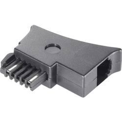 Telefonní adaptér [1x telefonní zástrčka rakouská (TST) - 1x RJ11 zásuvka 6p4c] 0.00 m černá Basetech
