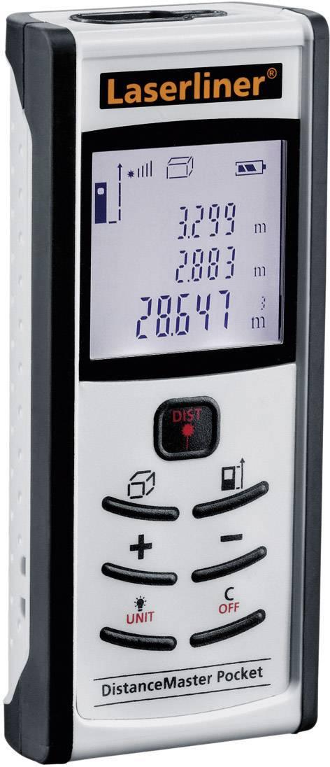 Laserový měřič vzdálenosti Laserliner Pocket 080.945A, Rozsah měření (max.) 40 m, kalibrace dle ISO