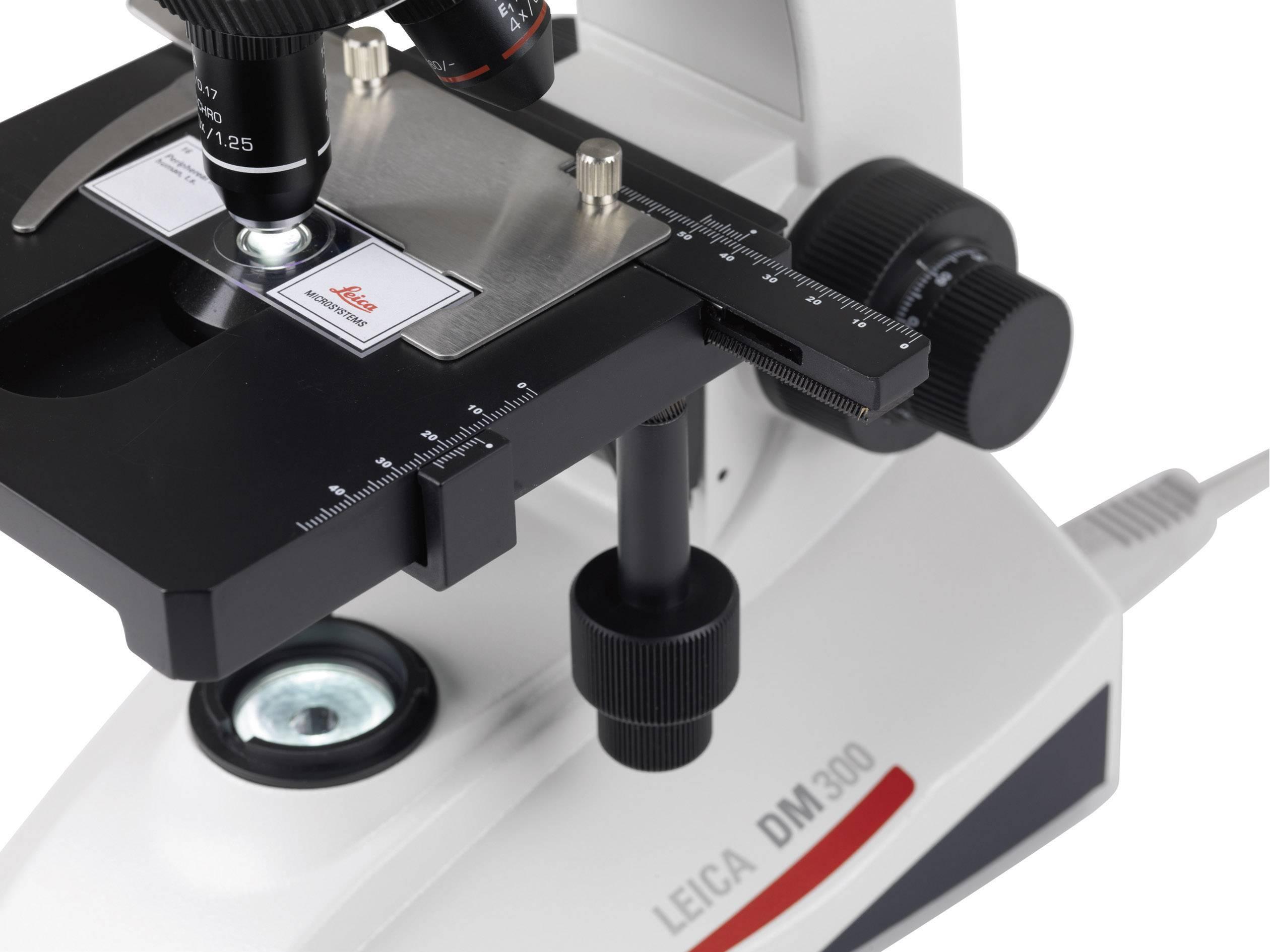 Mikroskop Leica Microsystems DM300, binokulárny, achromát, 4x, 10x, 40x, 100x, 13613305