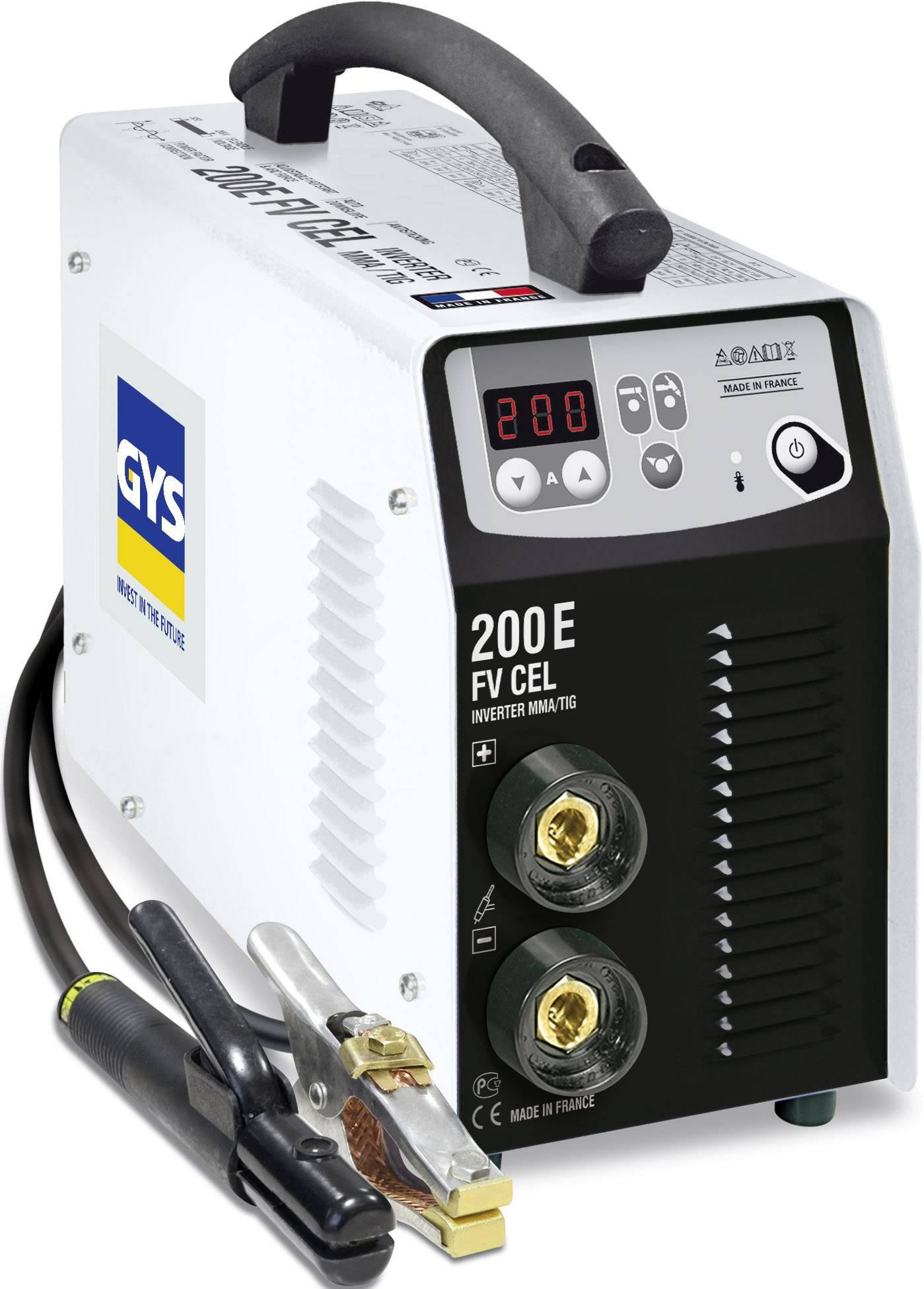 Elektrická zváračka GYS PROGYS E200 CEL 030862, 5 - 200 A