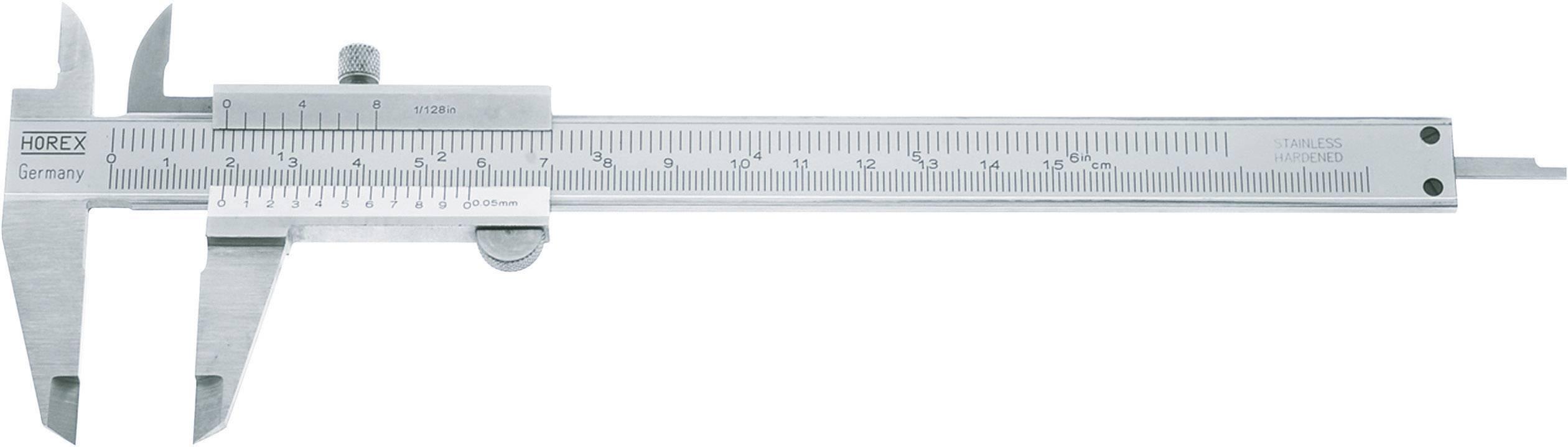 Kapesní posuvné měřítko Horex 2226516, měřicí rozsah 150 mm, Kalibrováno dle podnikový standard (bez certifikátu) (own)