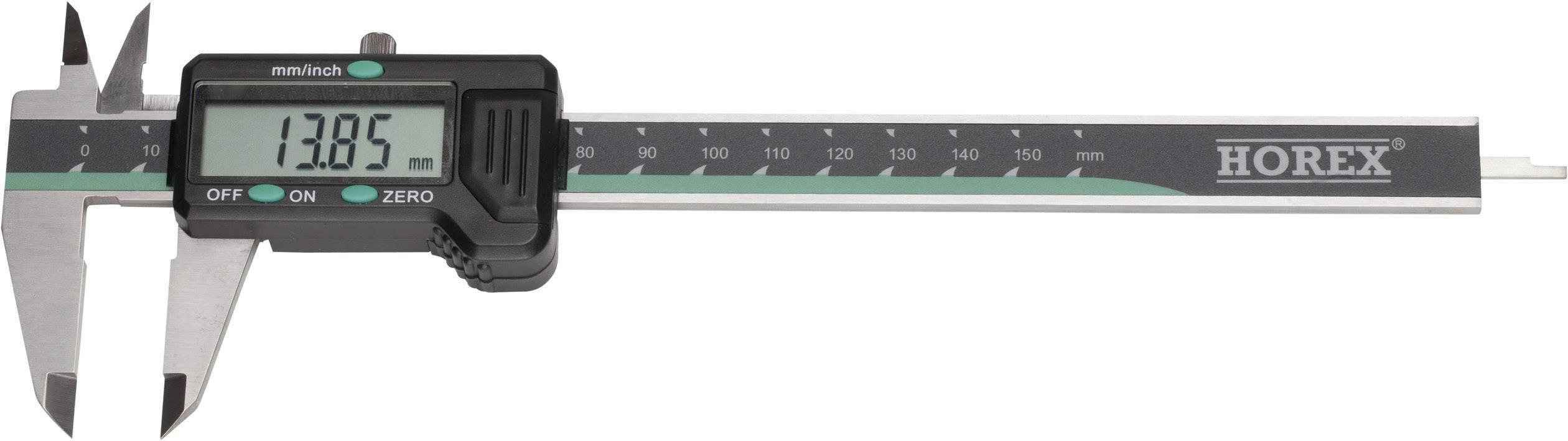 Digitální posuvné měřítko Horex 2211216, měřicí rozsah 150 mm, Kalibrováno dle vlastní